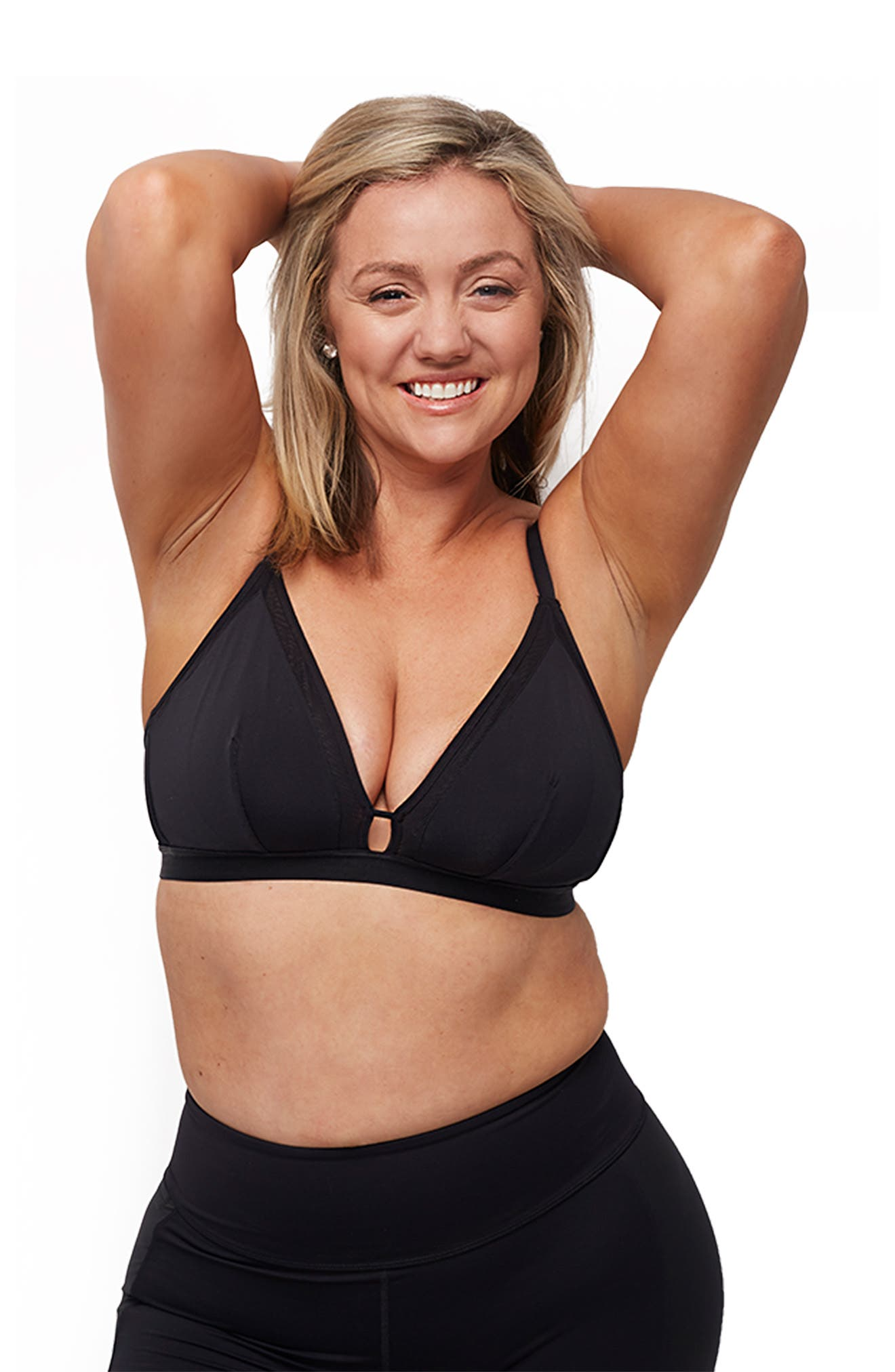 The Busty Bralette,                             Alternate thumbnail 4, color,                             JET BLACK