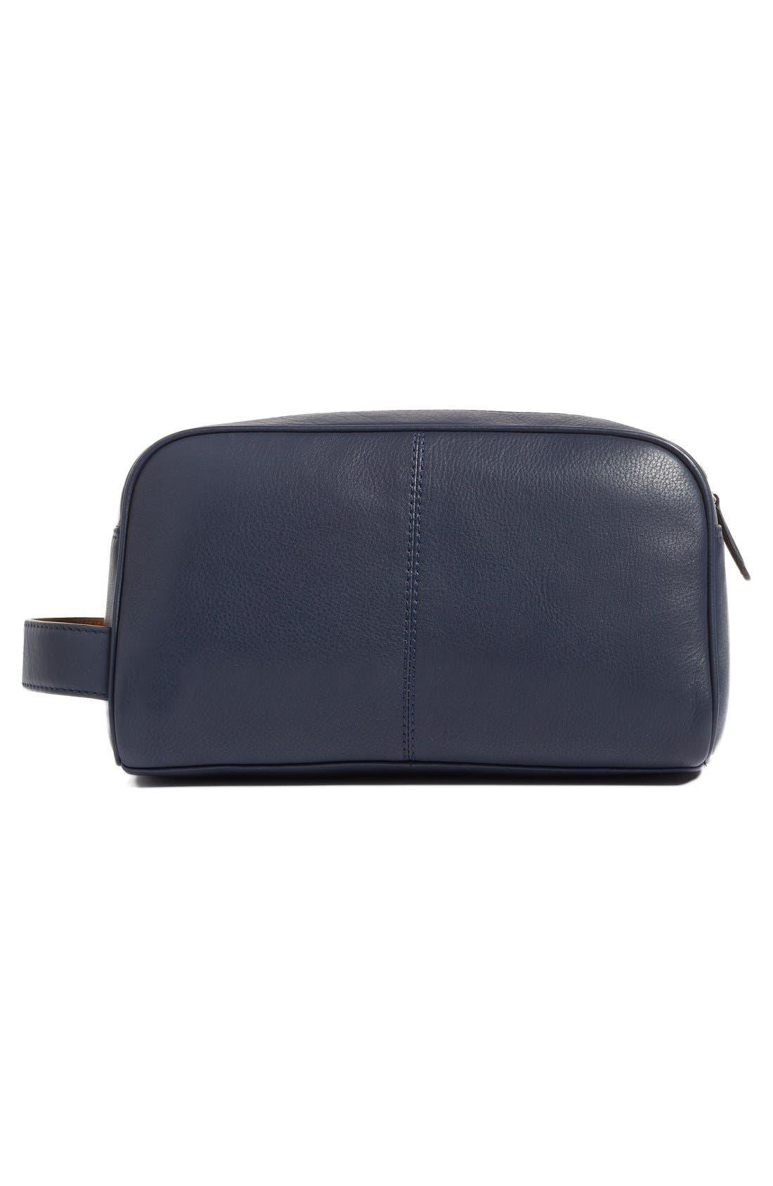 'Footsy' Leather Travel Kit,                             Alternate thumbnail 4, color,                             410