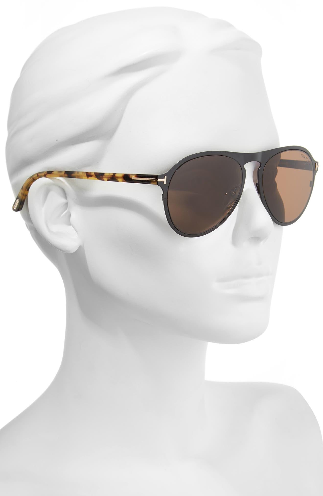 Vintage Pilot 50mm Sunglasses,                             Alternate thumbnail 6, color,
