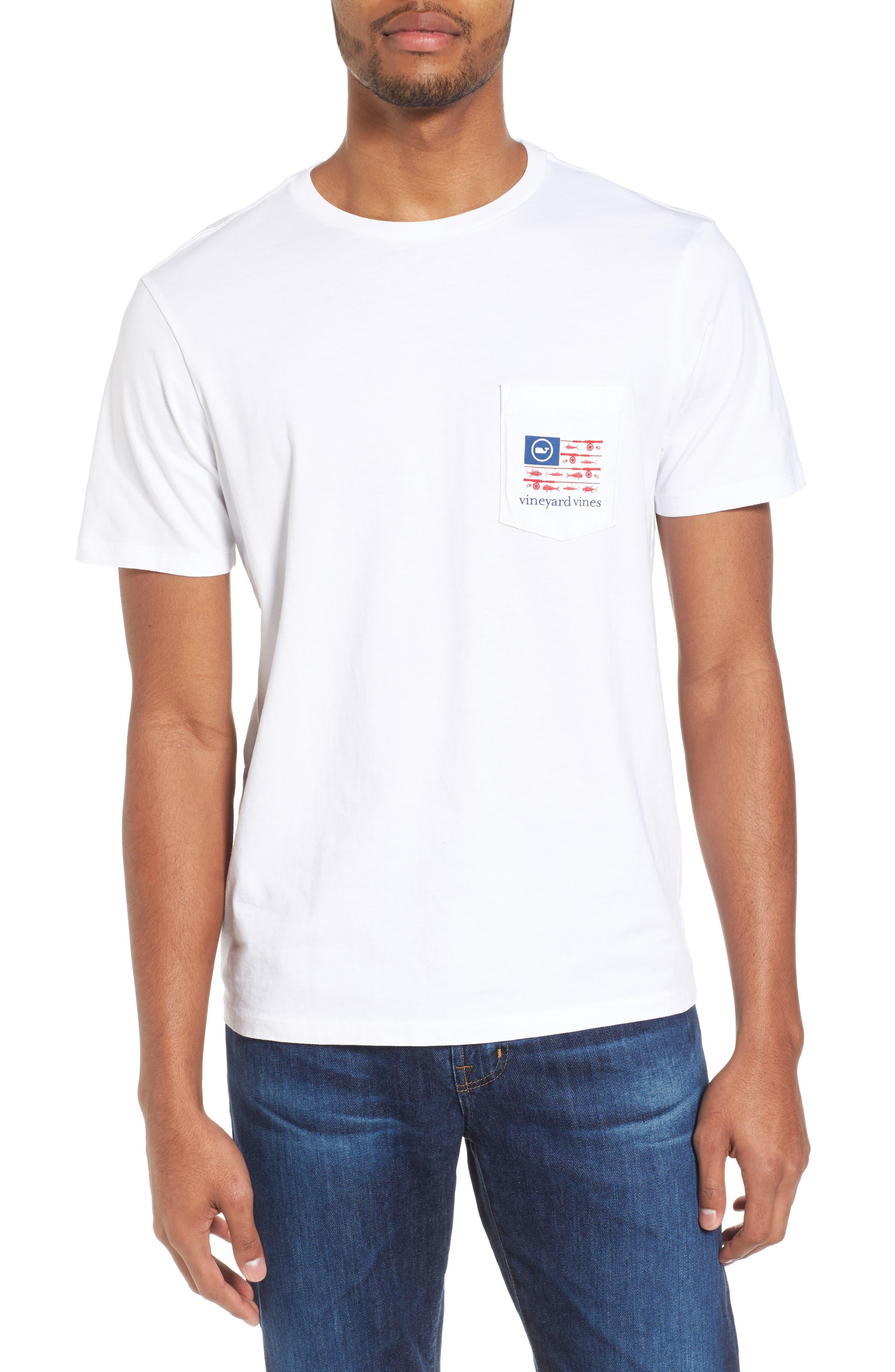 Fishing Flag Graphic Pocket T-Shirt,                             Main thumbnail 1, color,