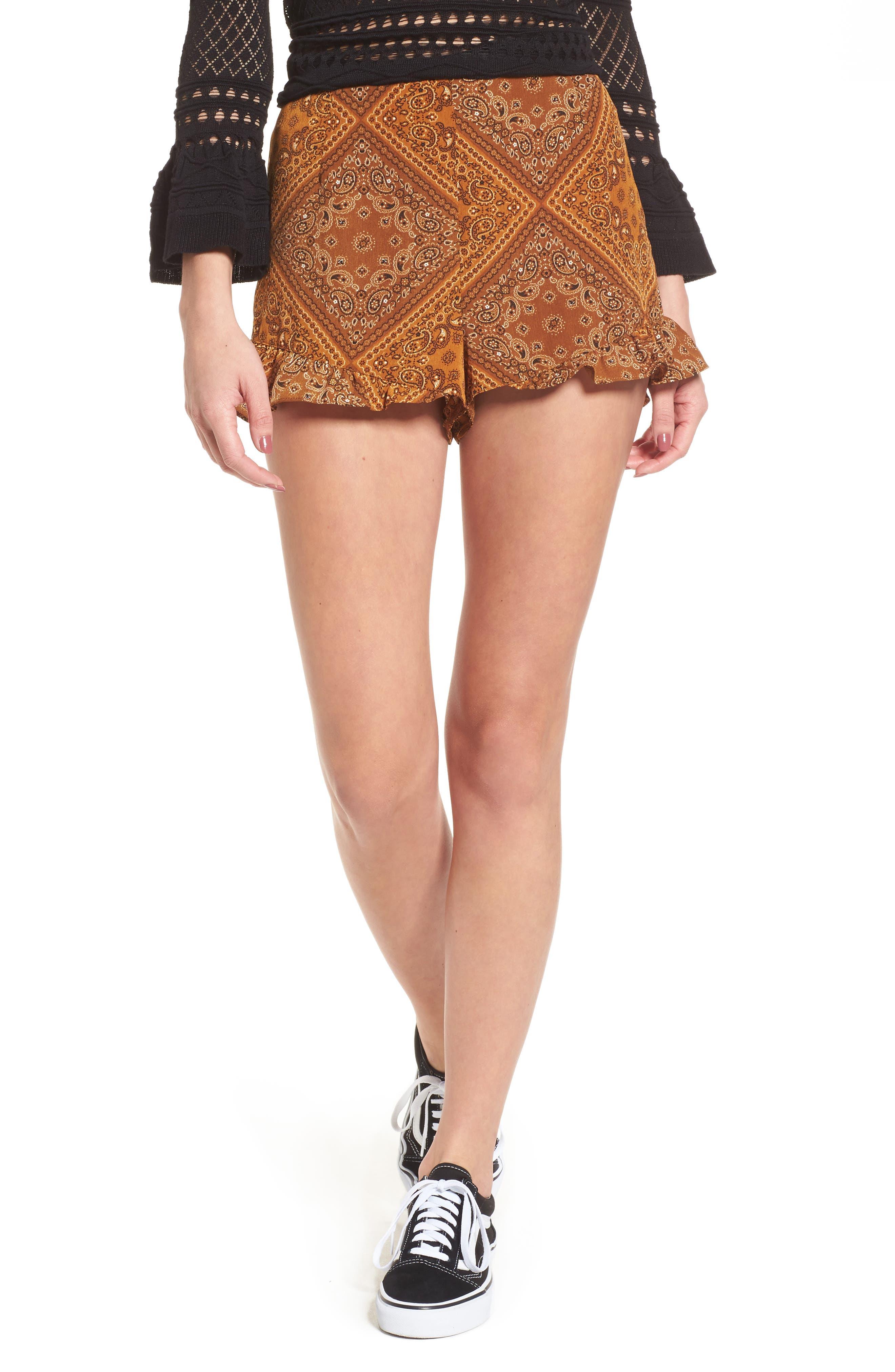 Camry Bandana Print Shorts,                         Main,                         color, 704