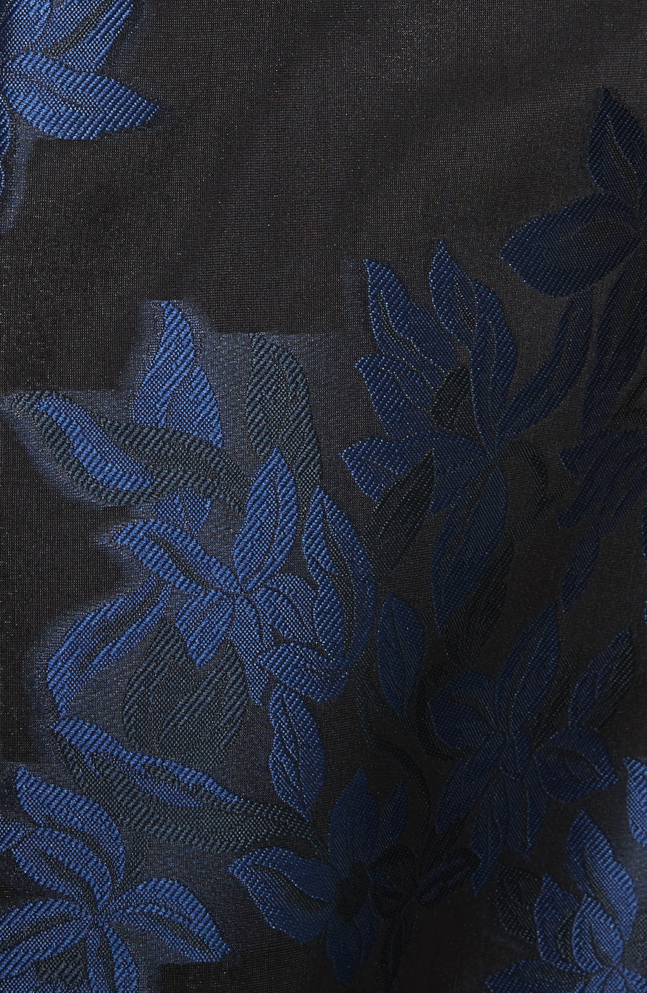 Floral Jacquard Party Dress,                             Alternate thumbnail 5, color,                             400