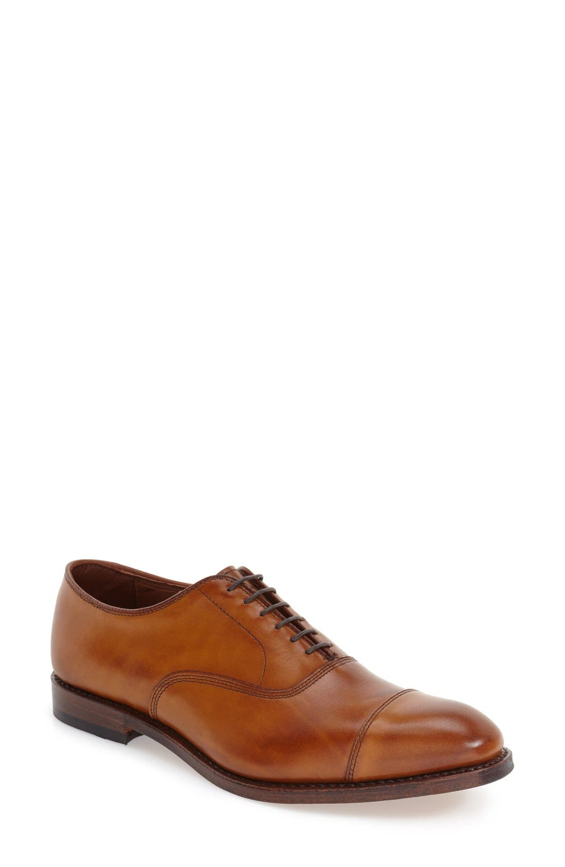 'Park Avenue' Cap Toe Oxford,                         Main,                         color, WALNUT
