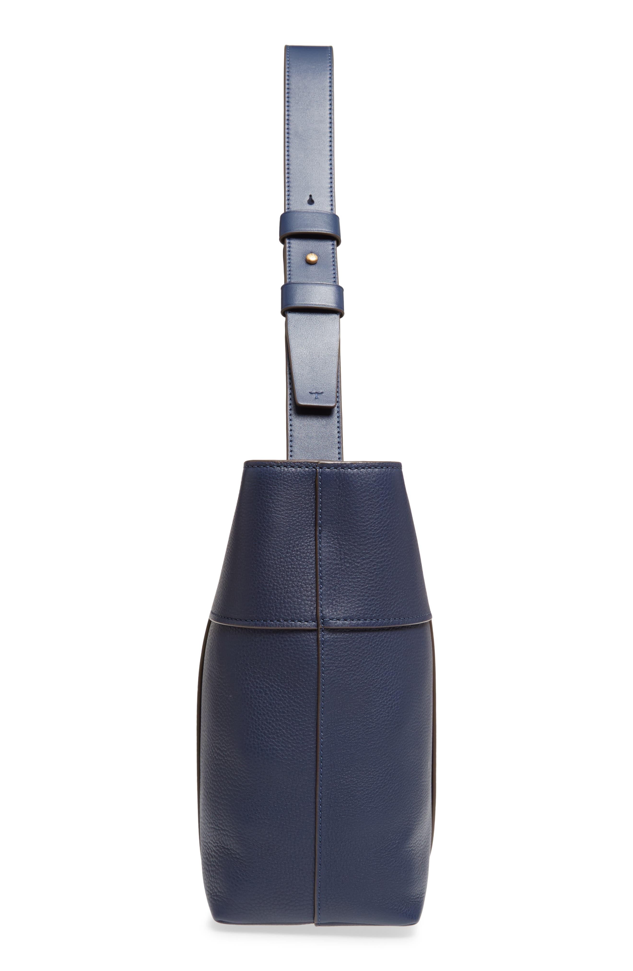 Block-T Pebbled Leather Hobo,                             Alternate thumbnail 5, color,                             400