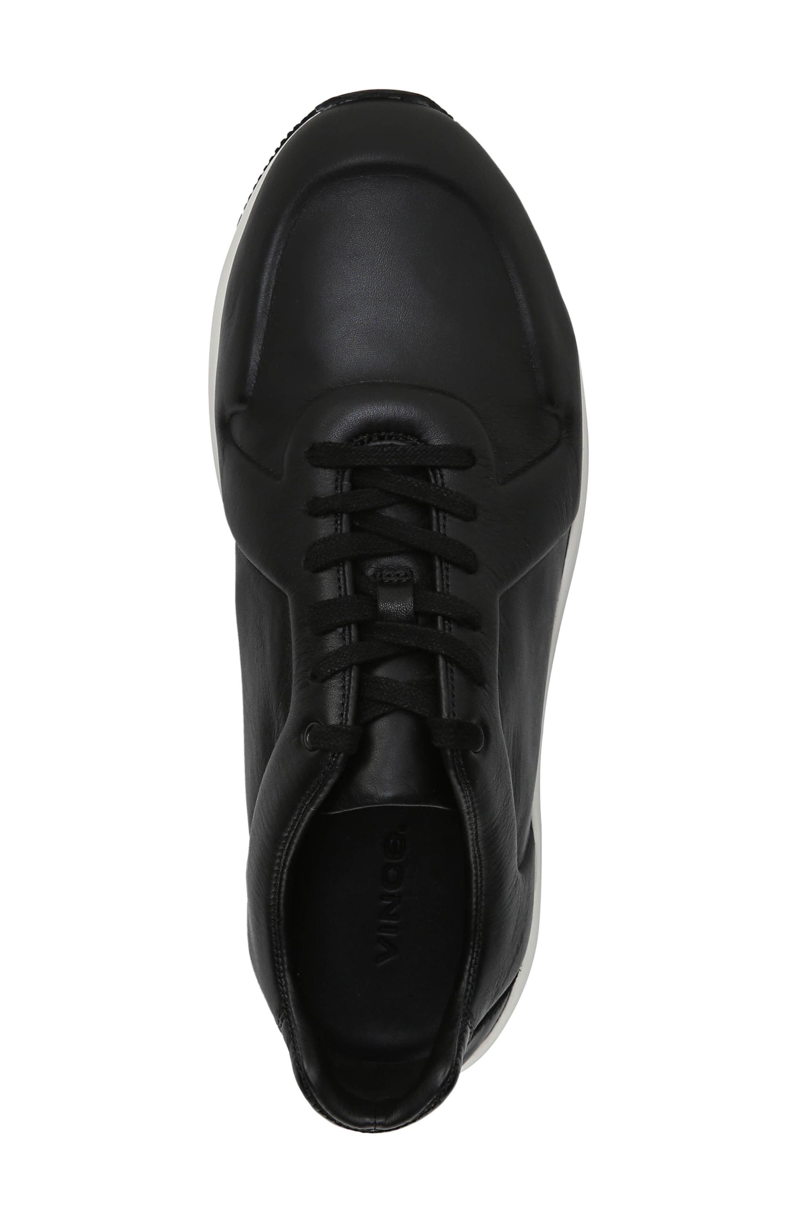 Garrett Sneaker,                             Alternate thumbnail 5, color,                             BLACK/ BLACK