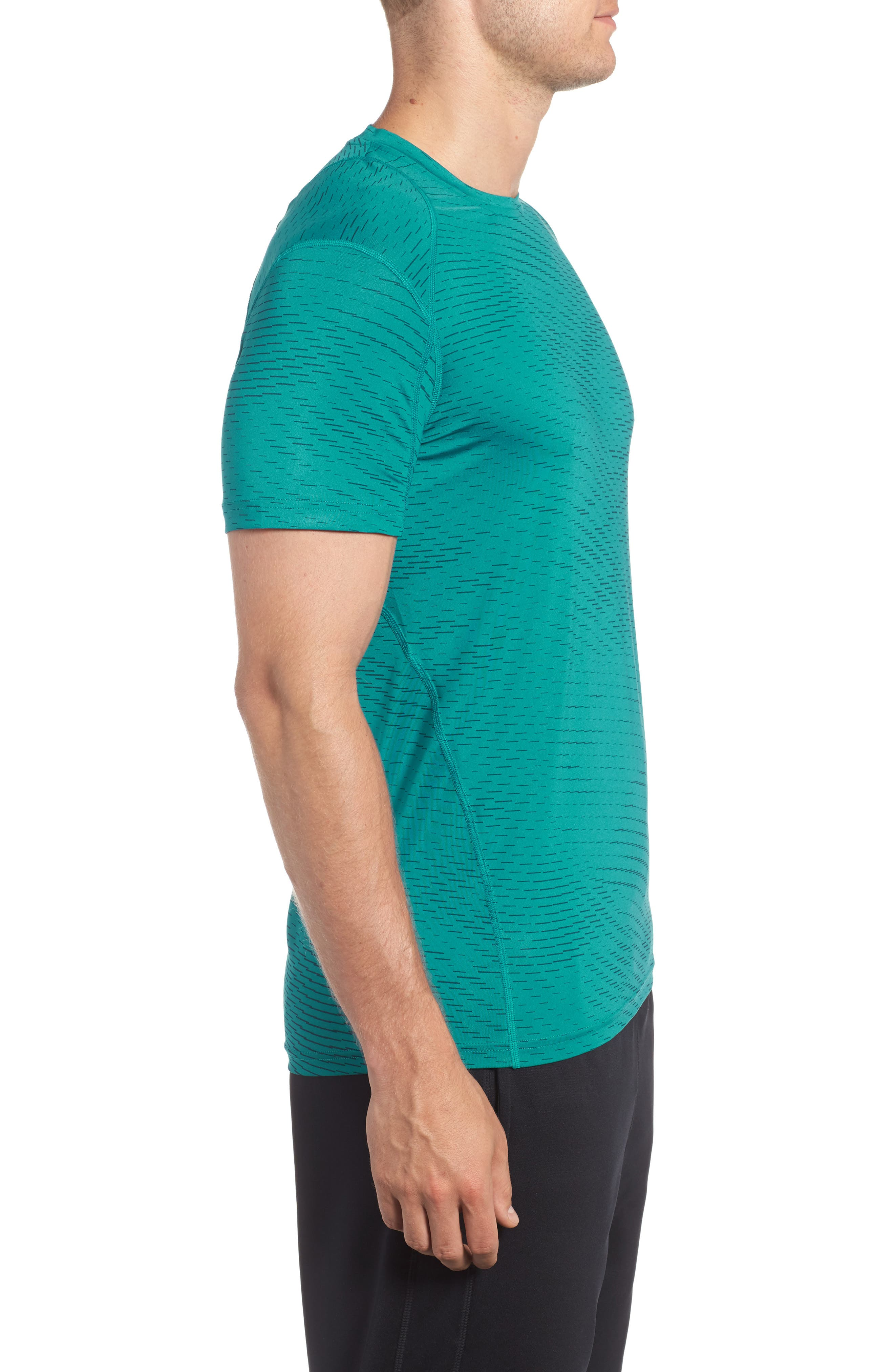 Fitted Athletic T-Shirt,                             Alternate thumbnail 9, color,