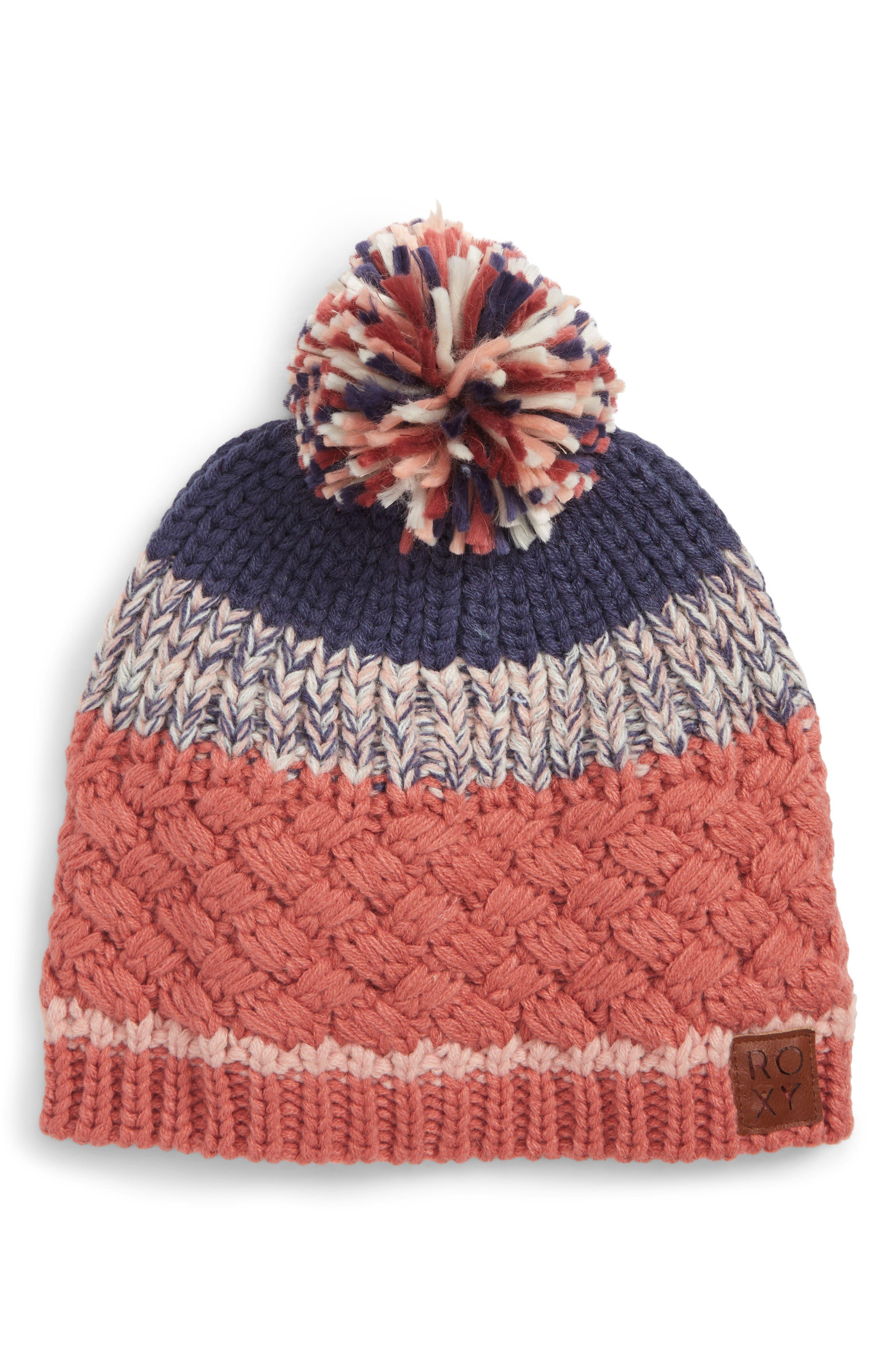 Hailey Knit Beanie,                             Main thumbnail 1, color,                             657