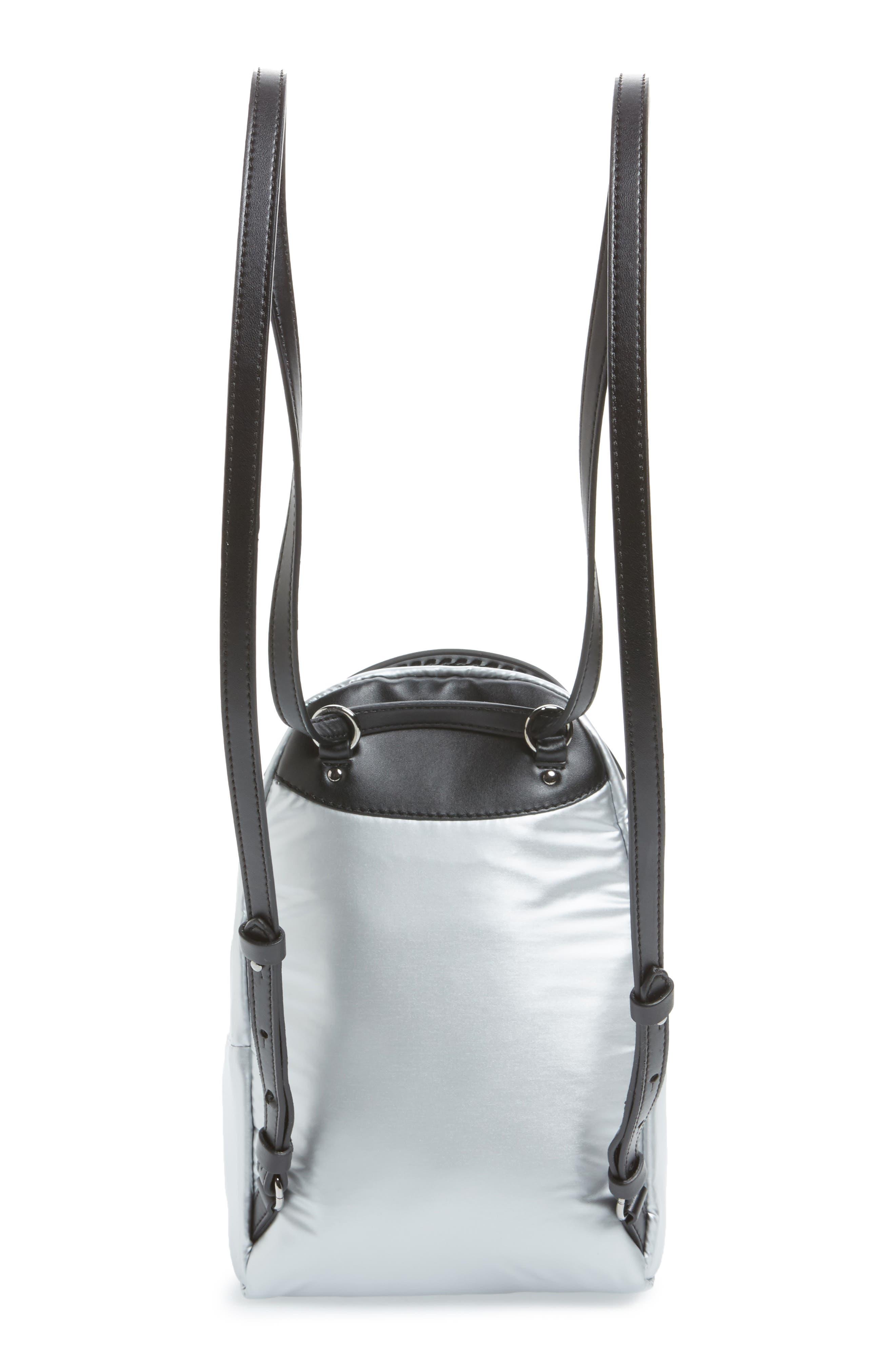 Mini Metallic Nylon Backpack,                             Alternate thumbnail 3, color,                             045