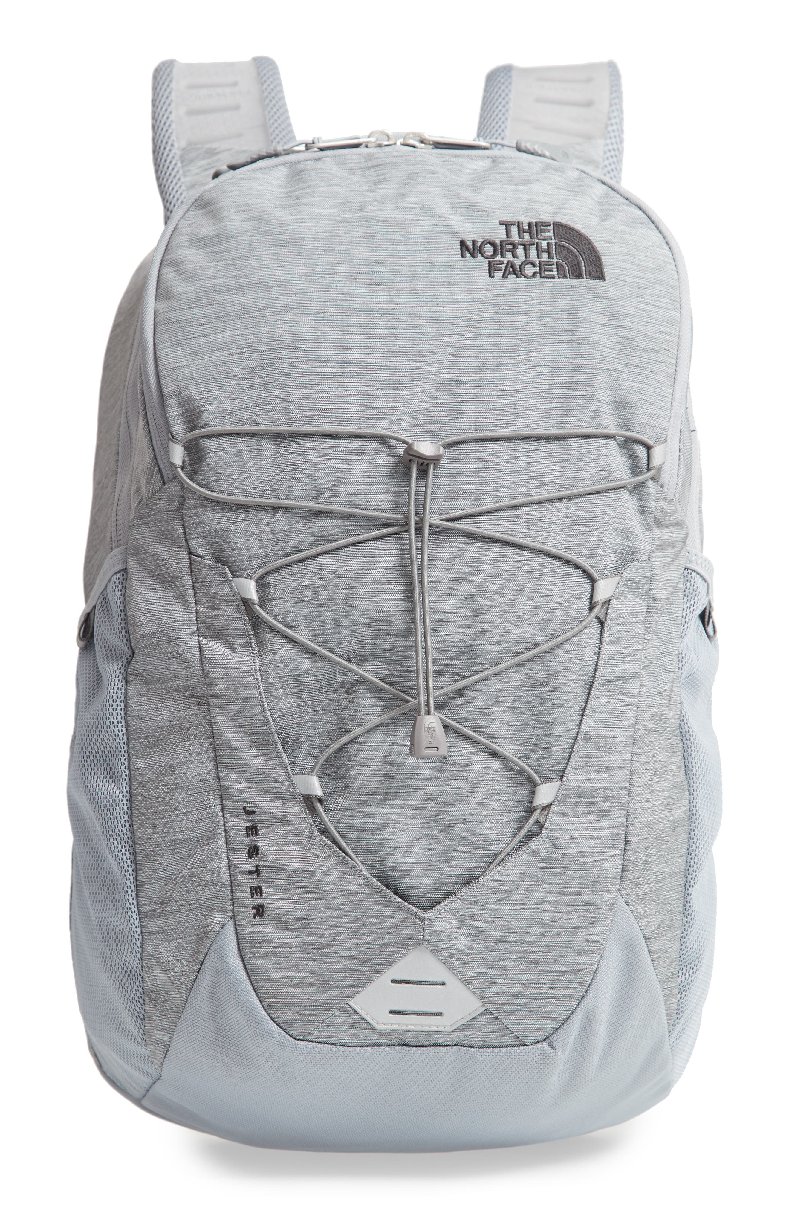 Jester Backpack,                         Main,                         color, GREY DARK HEATHER/ TNF BLACK