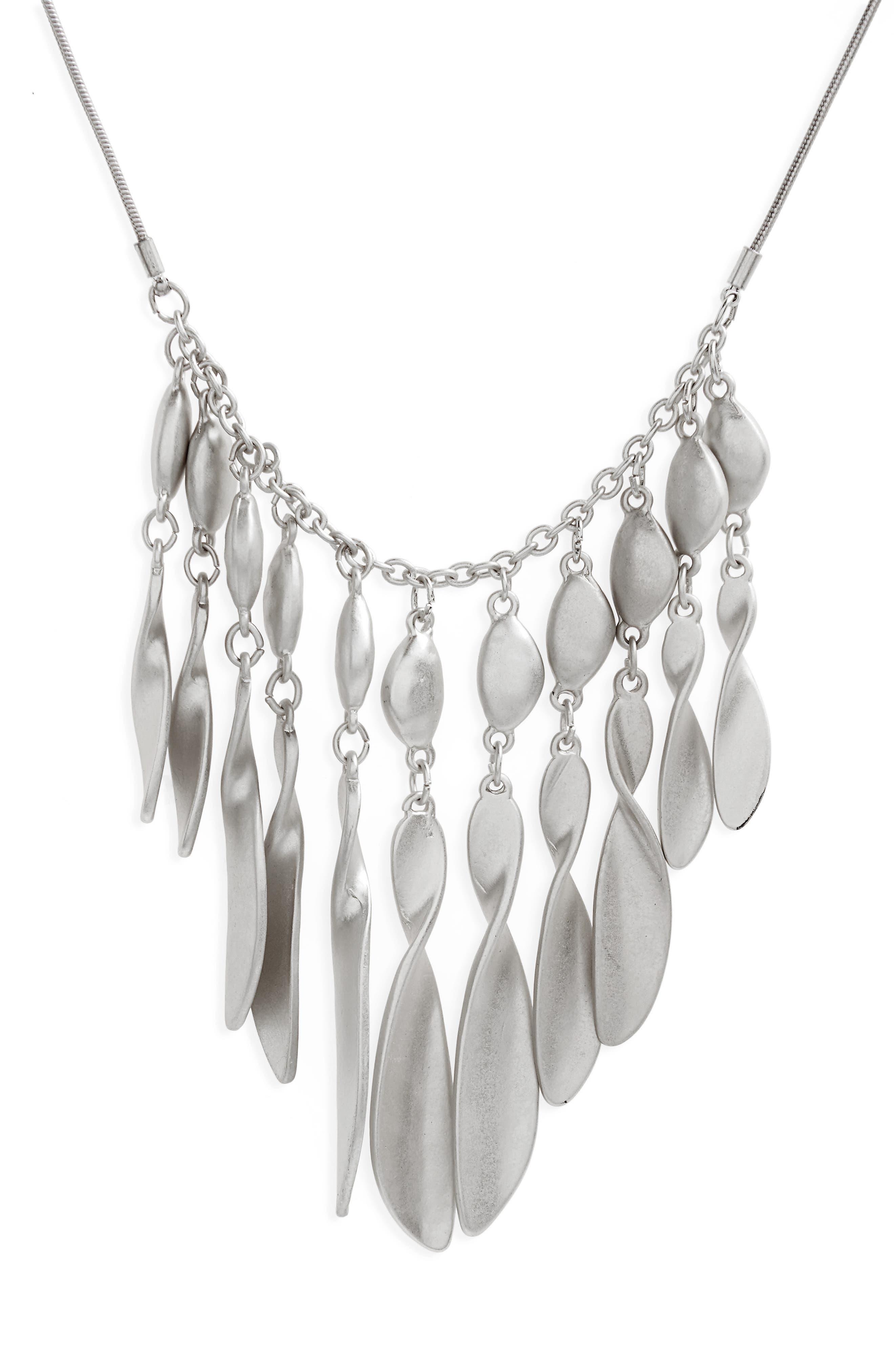 Organic Twist Fringe Pendant Necklace,                             Alternate thumbnail 2, color,                             040