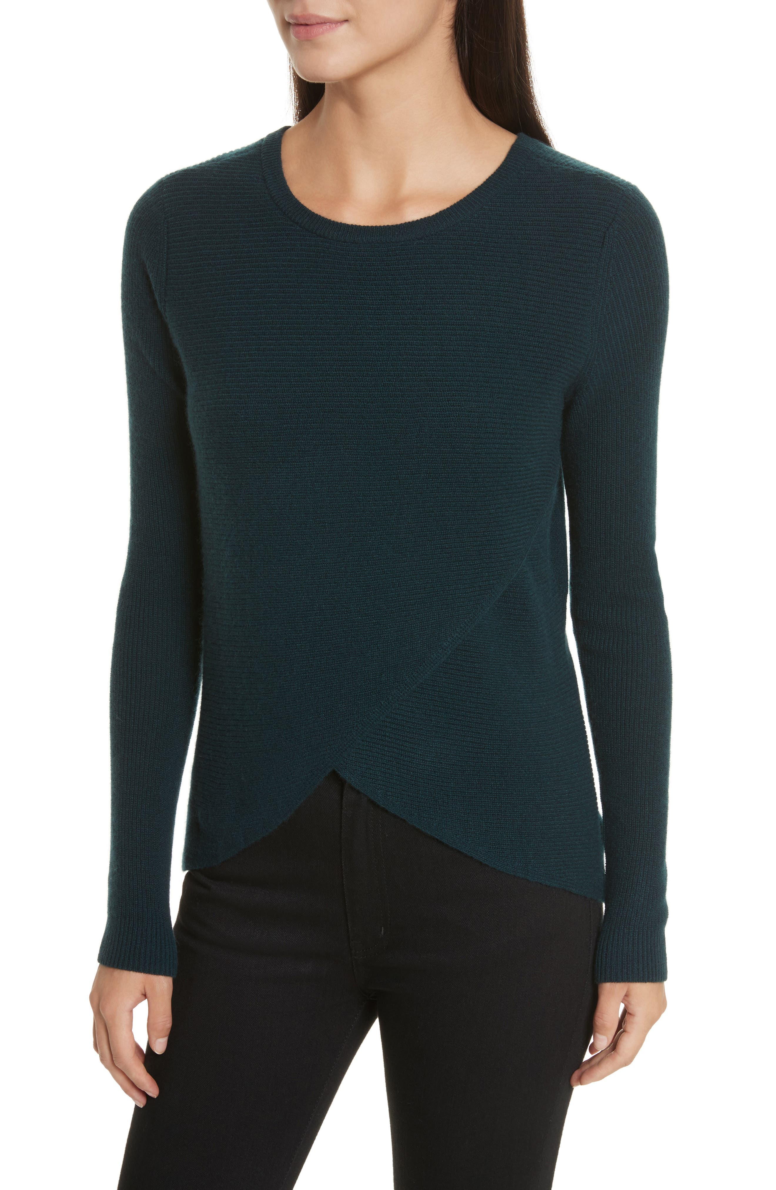Cashmere Reversible Surplice Sweater,                             Alternate thumbnail 2, color,                             232