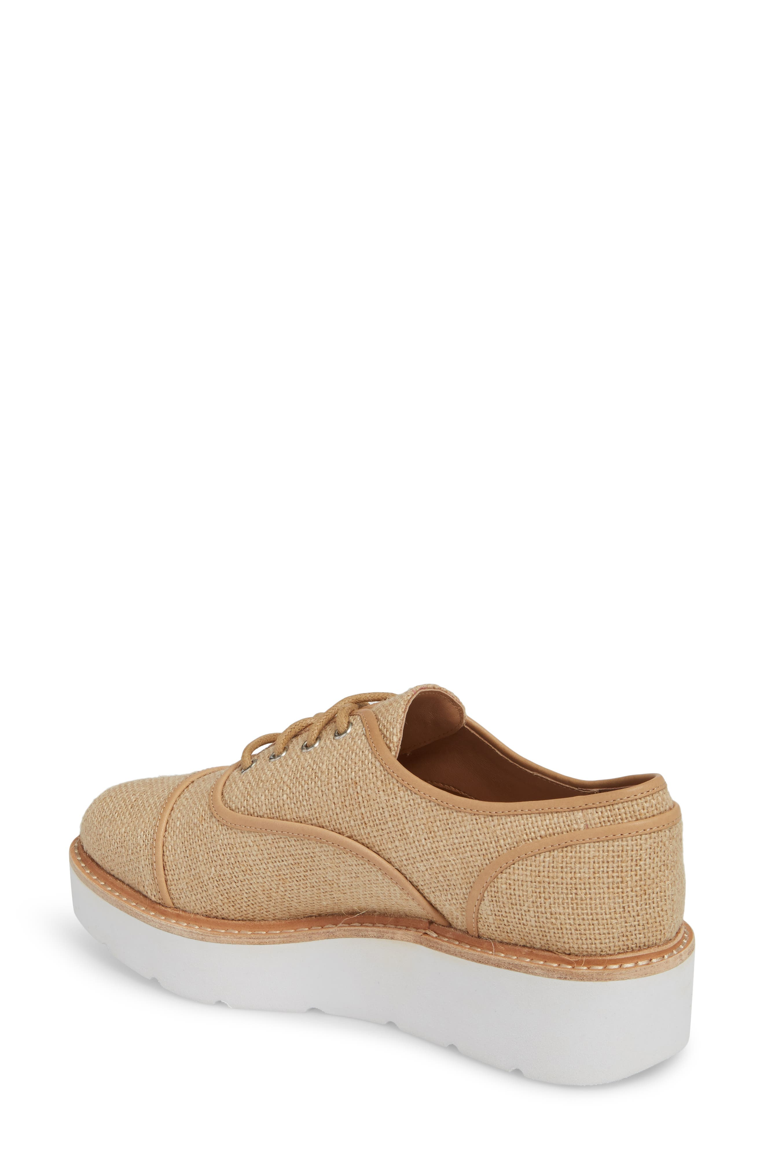 Mavis Cap Toe Platform Sneaker,                             Alternate thumbnail 2, color,                             250