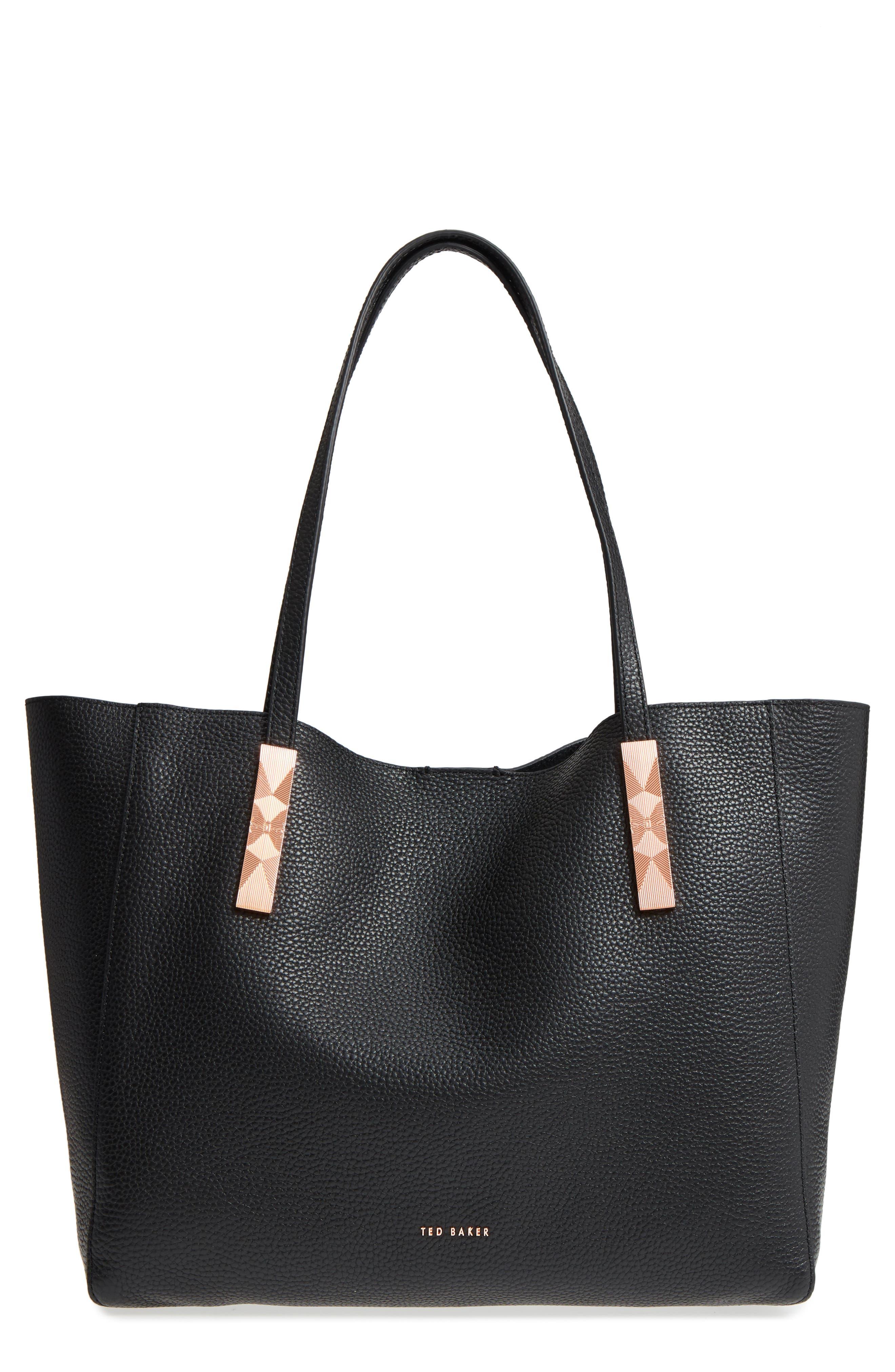 Pionila Leather Tote,                         Main,                         color, 001