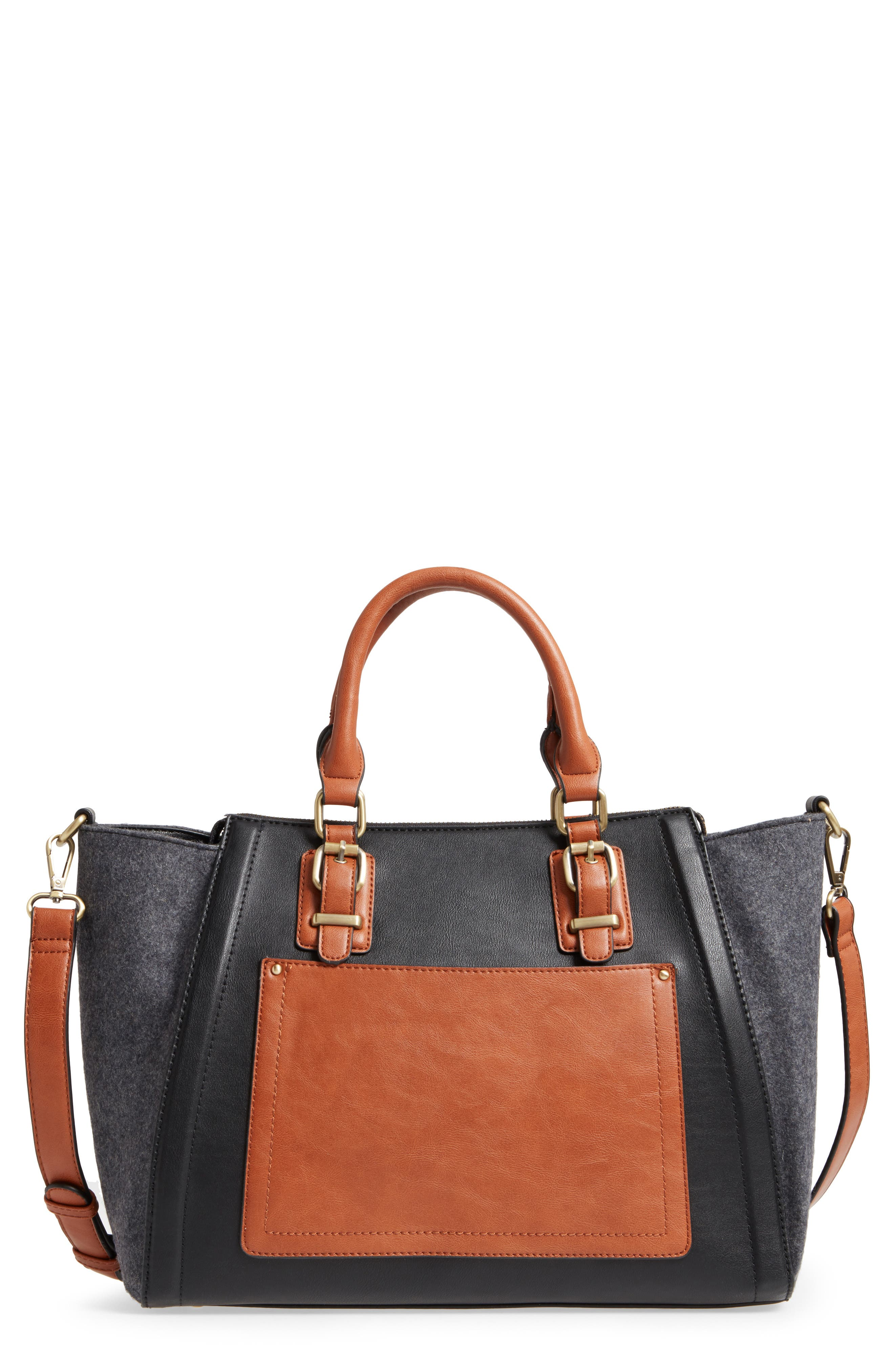'Jensen' Mixed Media Tote,                         Main,                         color, 021