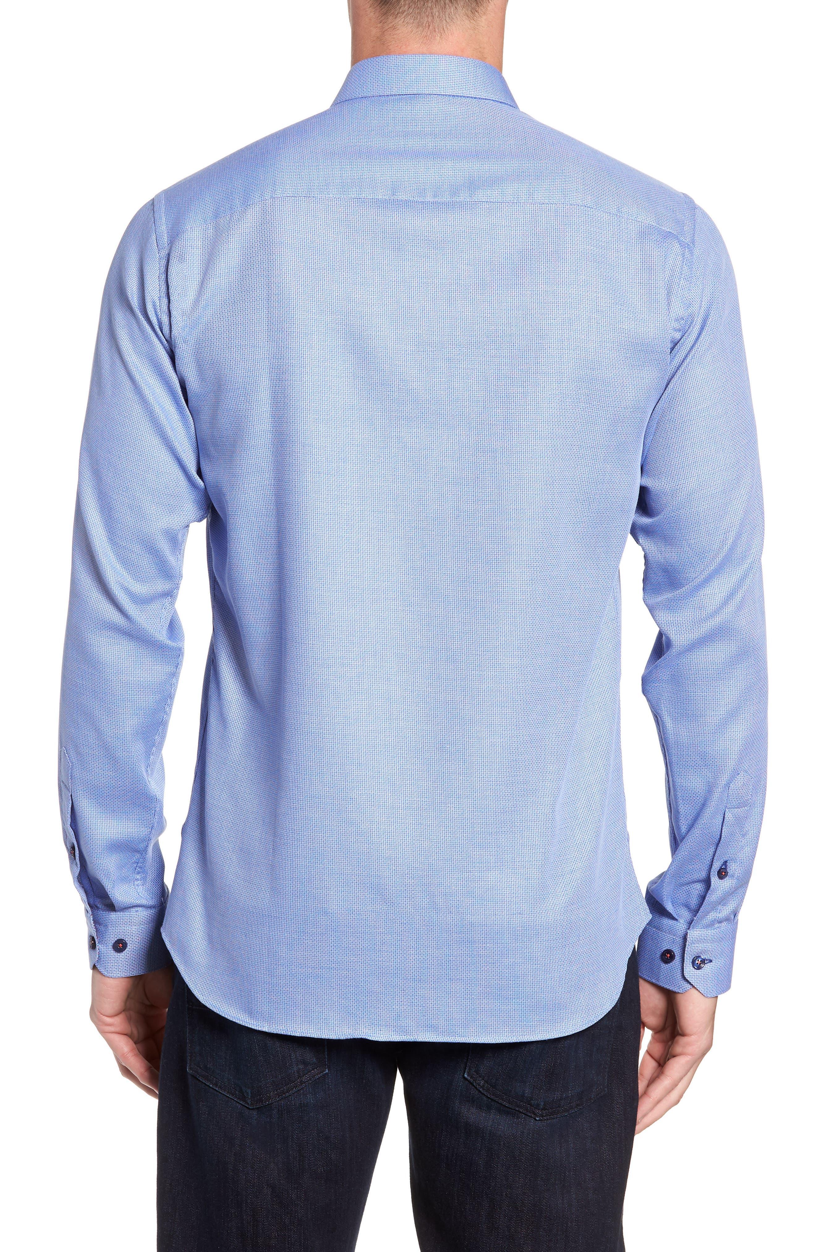 Trim Fit Sport Shirt,                             Alternate thumbnail 3, color,                             428