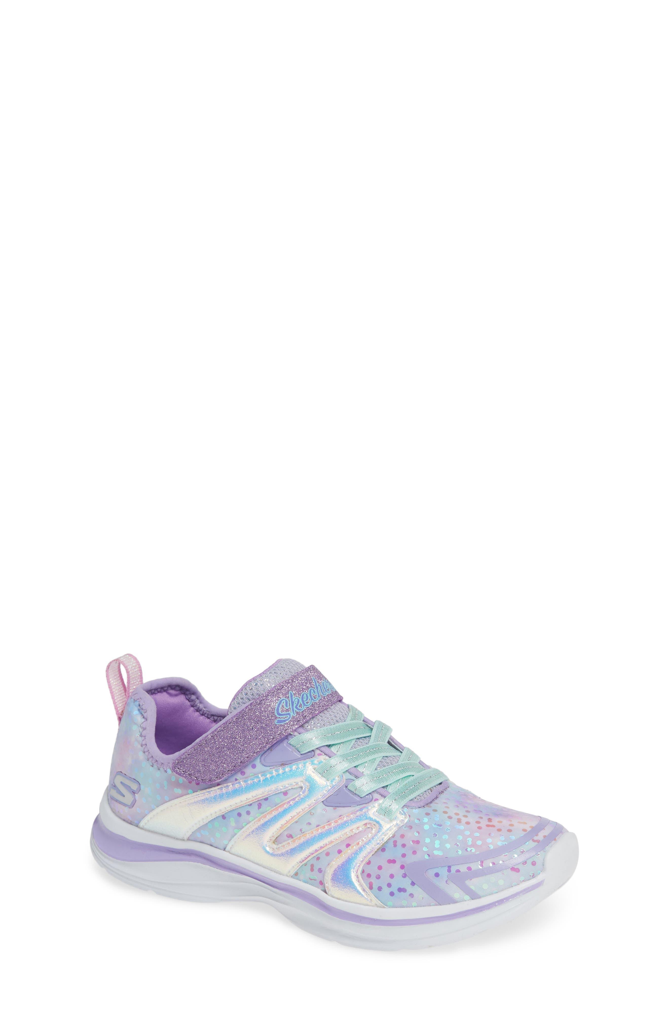 Double Dreams Shimmer Sneaker,                             Main thumbnail 1, color,                             LAVENDER/ MULTI