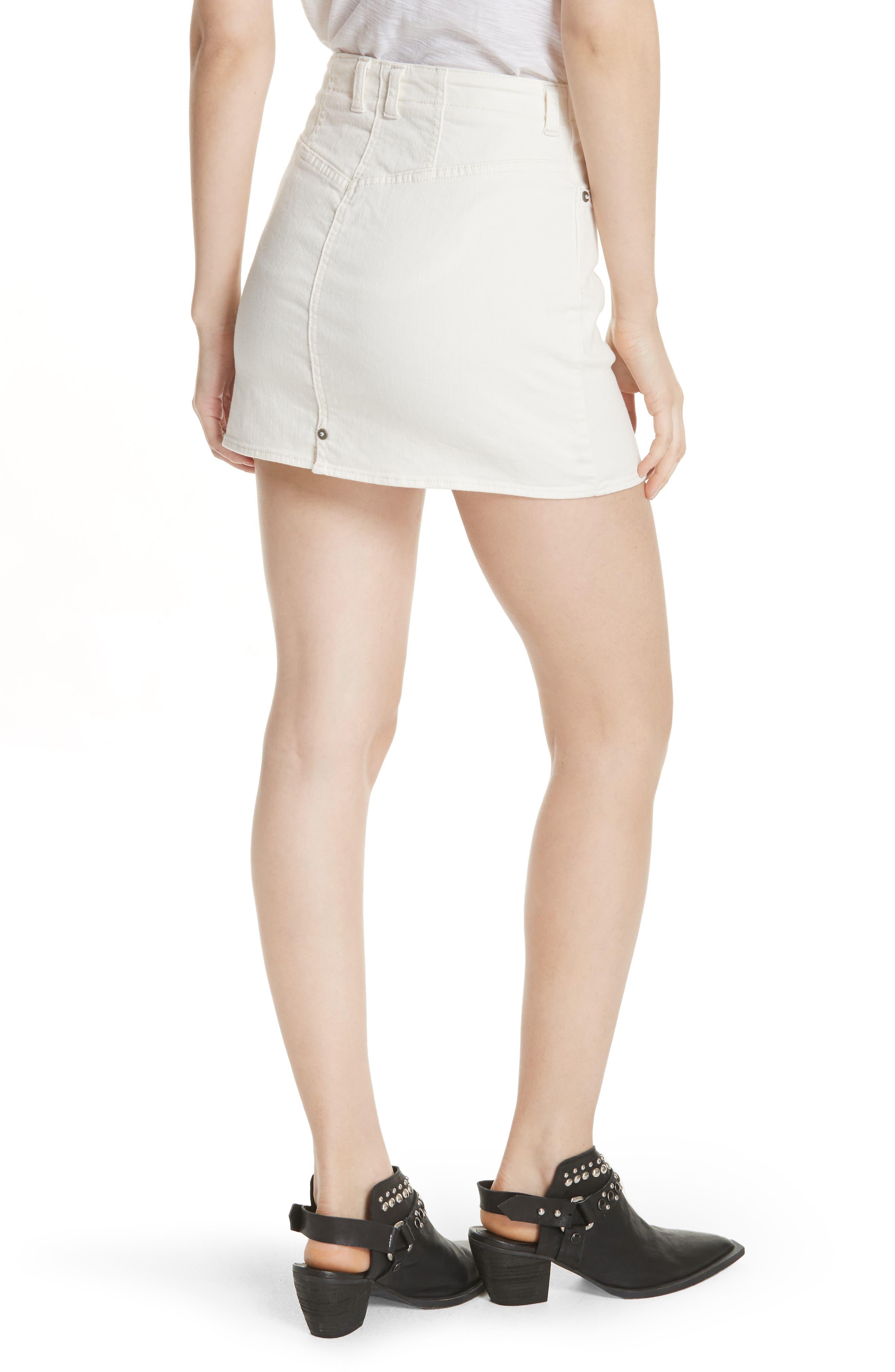 She's All That Denim Skirt,                             Alternate thumbnail 2, color,                             WHITE