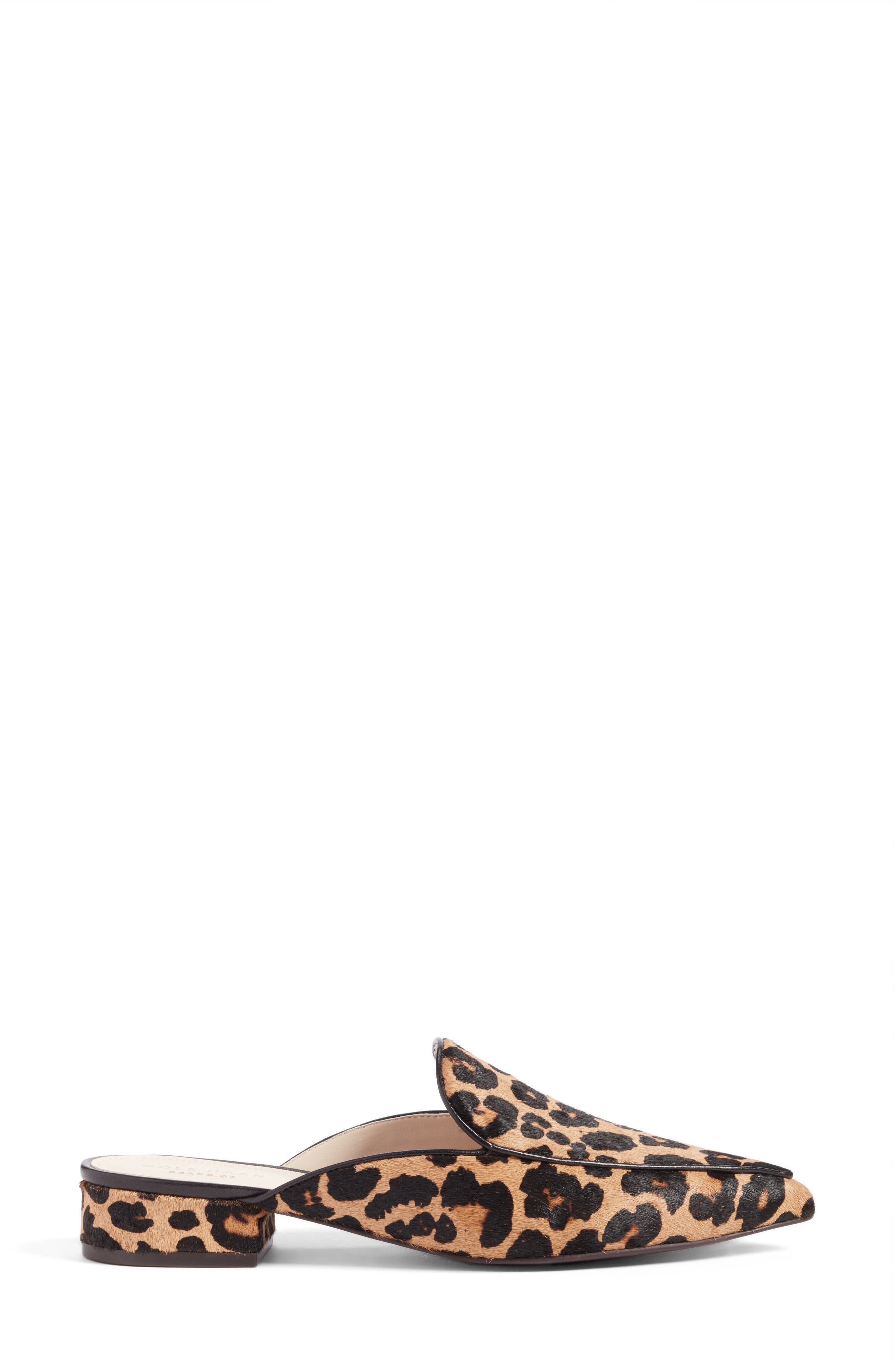 Piper Loafer Mule,                             Alternate thumbnail 3, color,                             OCELOT PRINT CALF HAIR