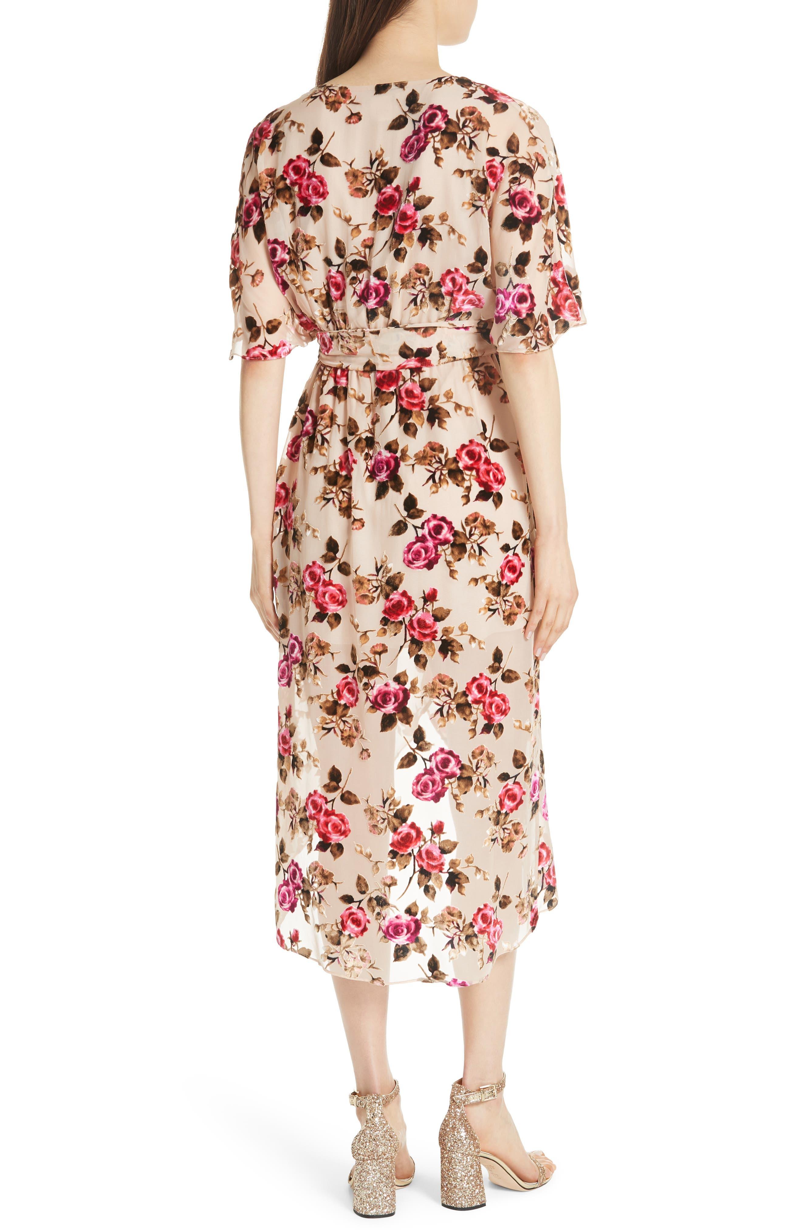 ALICE + OLIVIA,                             Clarine Floral Faux Wrap Dress,                             Alternate thumbnail 2, color,                             251