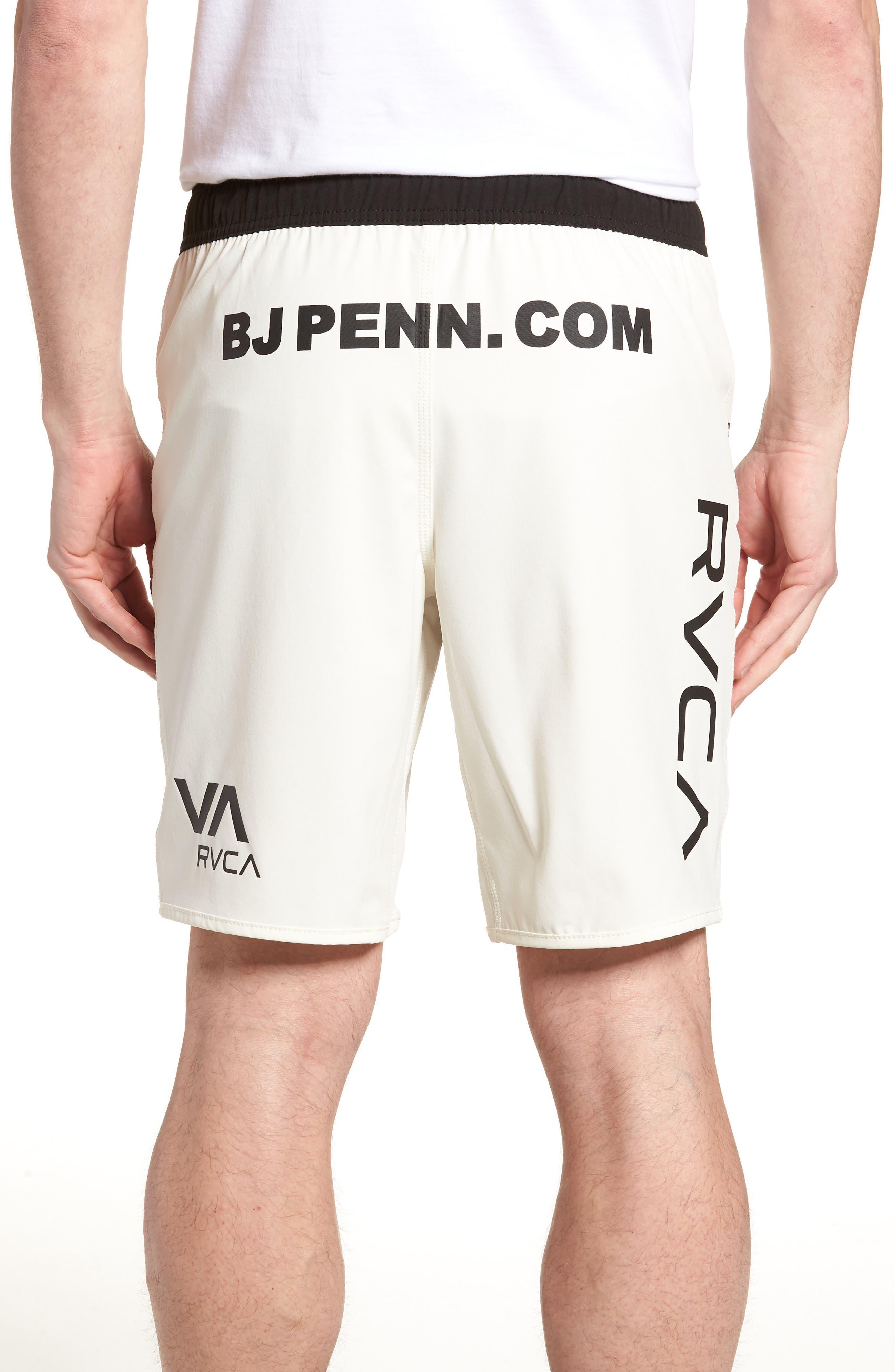 BJ Penn Legend Shorts,                             Alternate thumbnail 2, color,                             WHITE