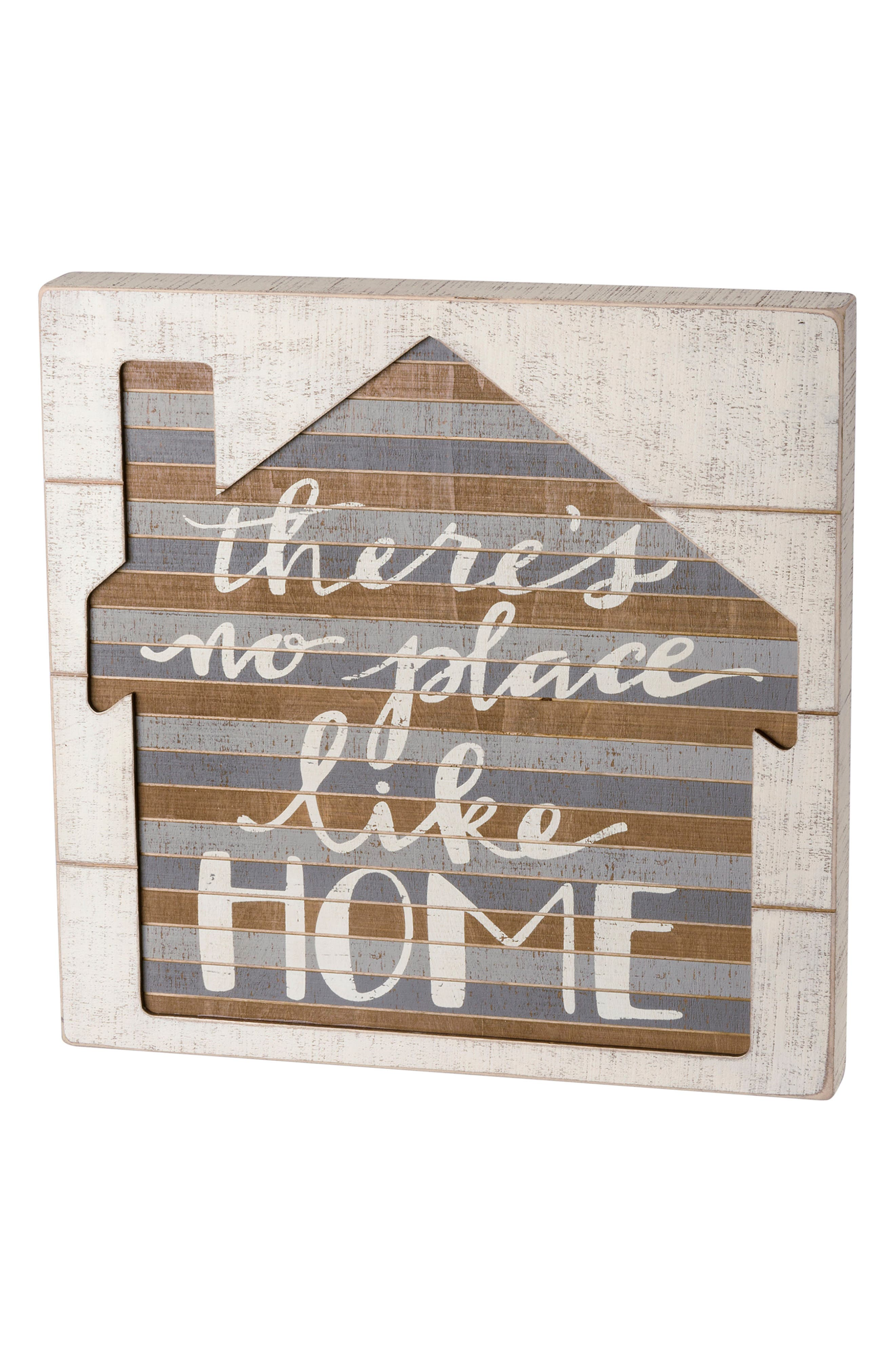 No Place Like Home Slat Box Sign,                             Main thumbnail 1, color,                             100