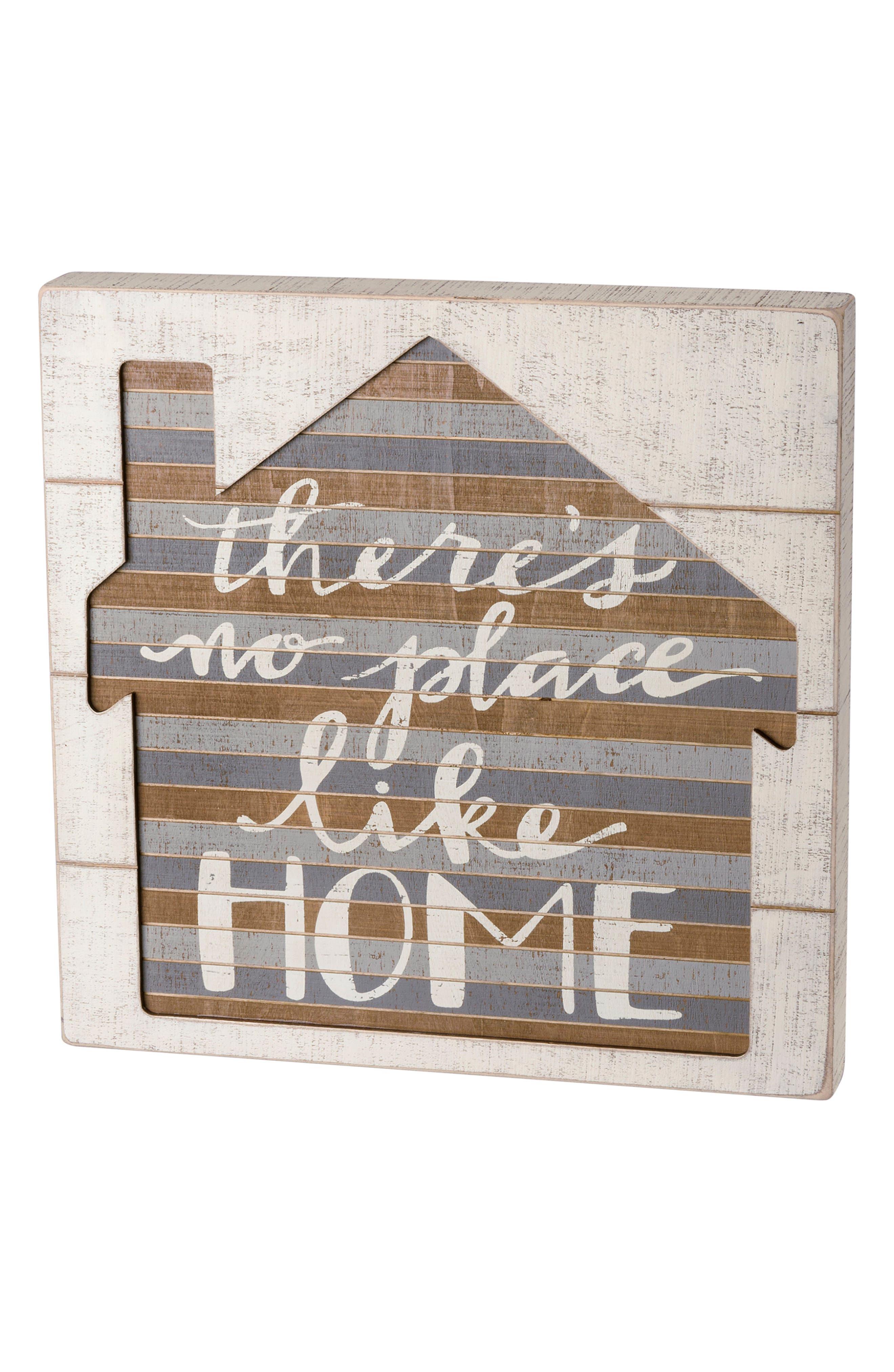 No Place Like Home Slat Box Sign,                         Main,                         color, 100