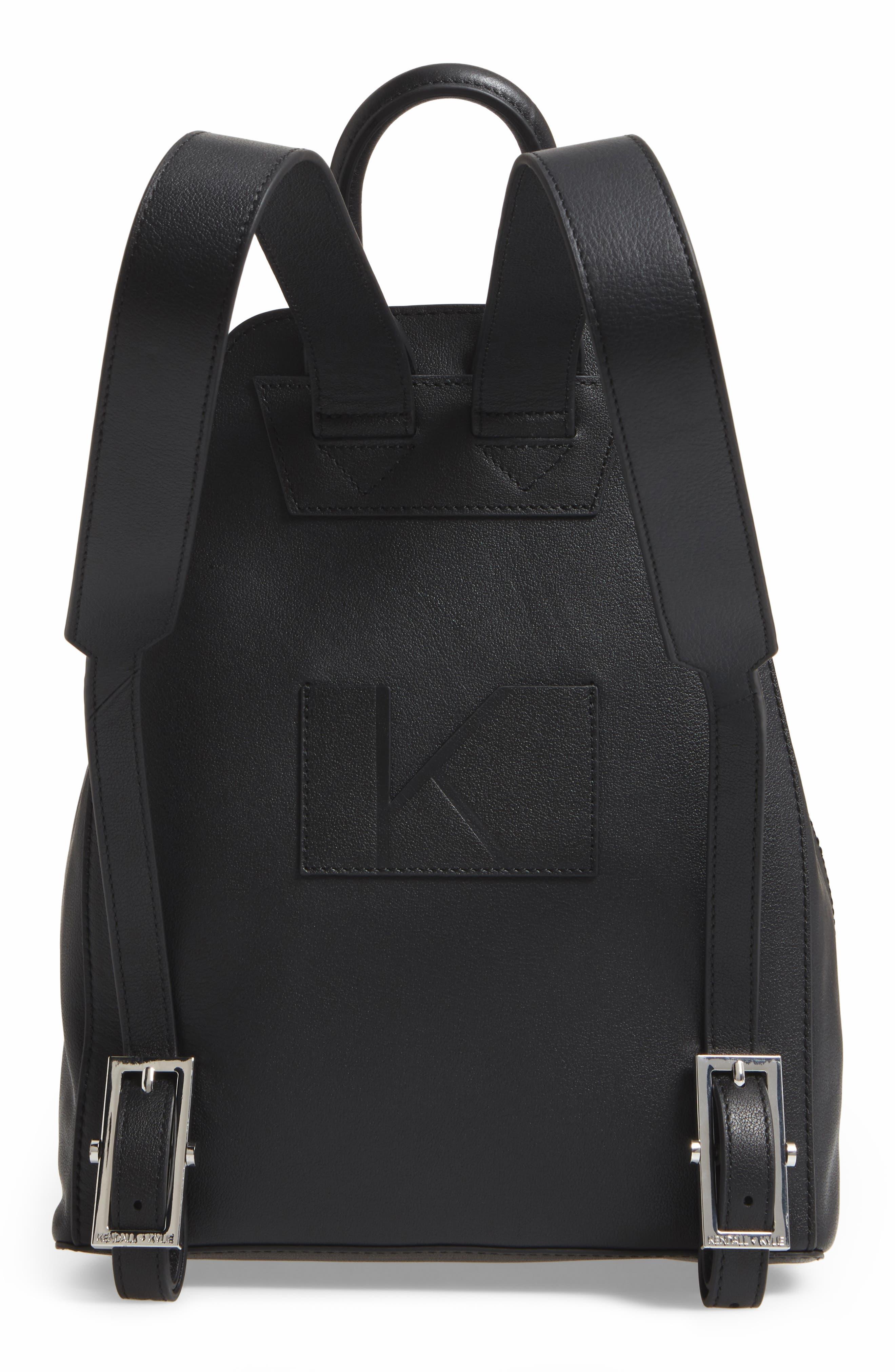 Koenji Leather Backpack,                             Alternate thumbnail 3, color,                             001