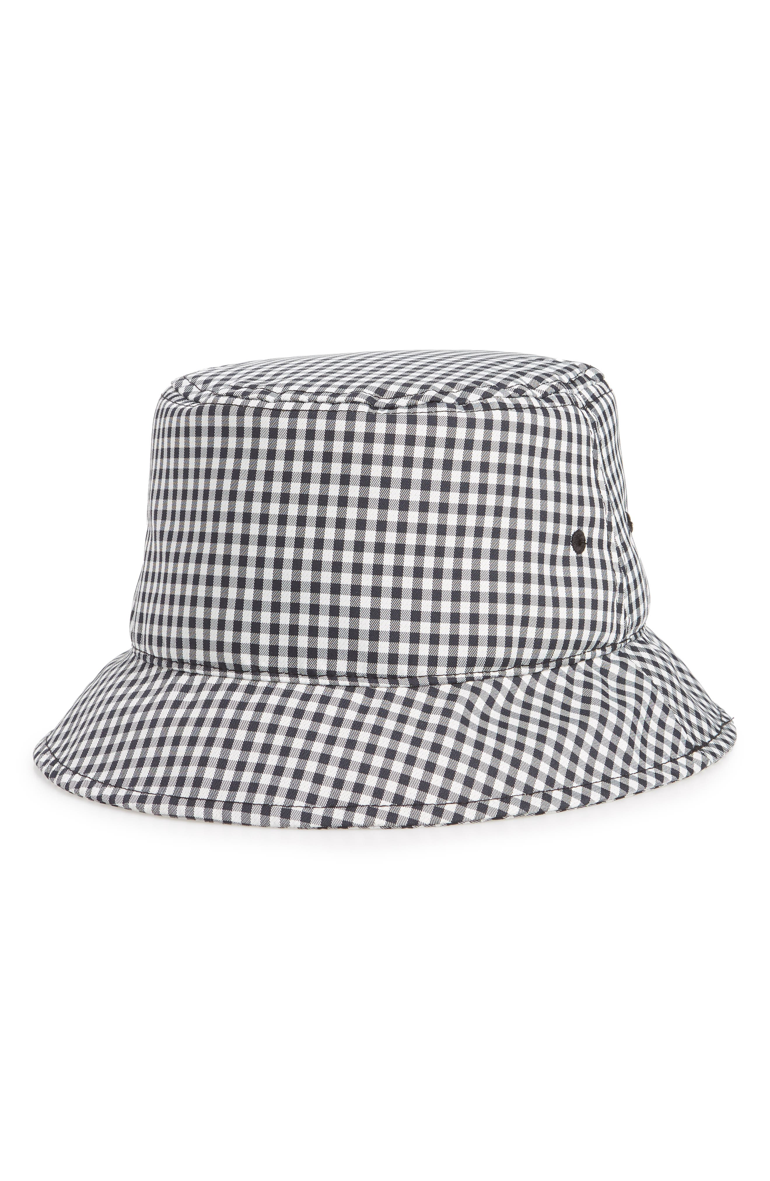 Ellis Bucket Hat,                             Main thumbnail 1, color,                             NAVY GINGHAM