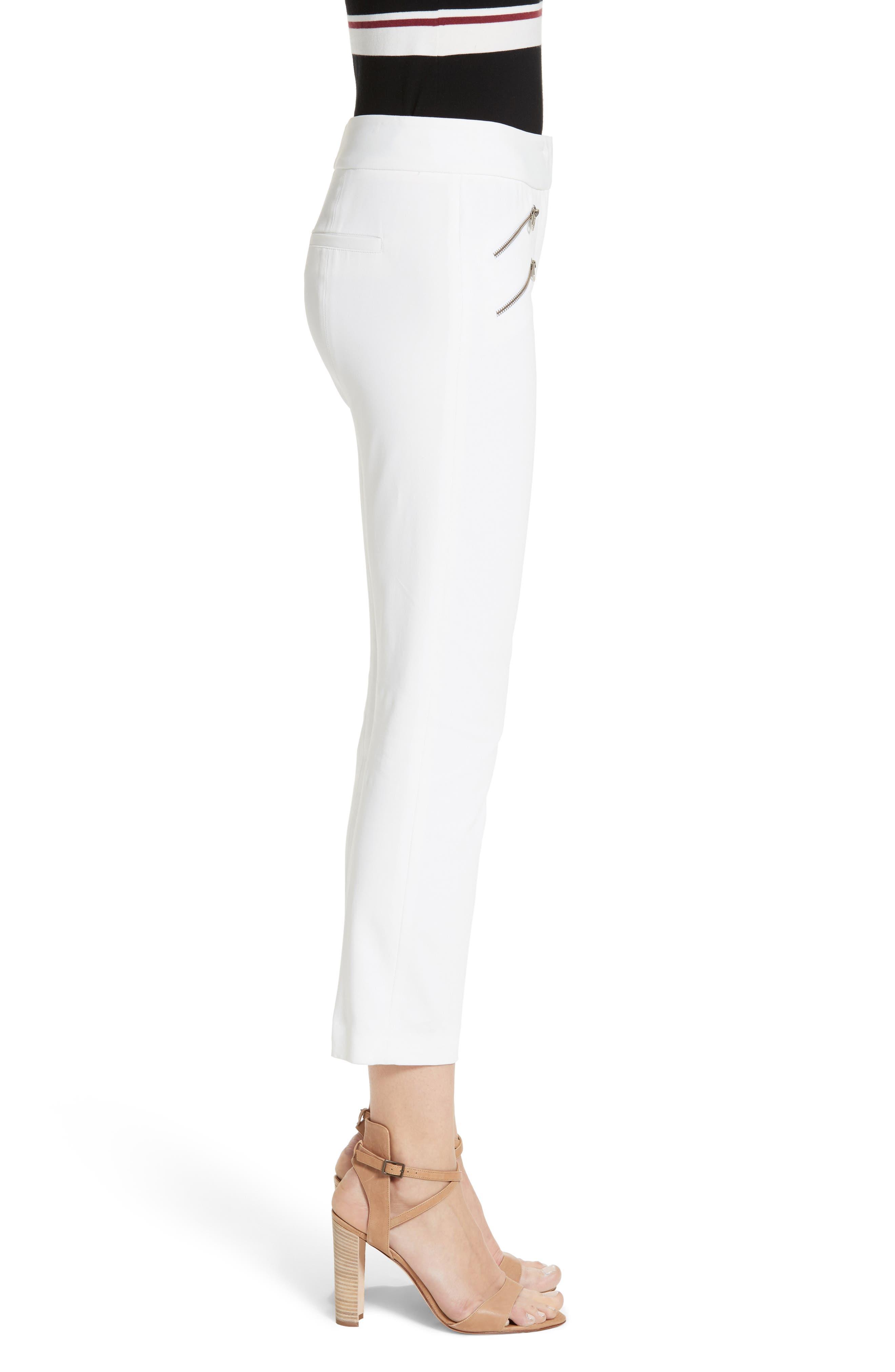 Roxy Crop Pants,                             Alternate thumbnail 3, color,                             WHITE