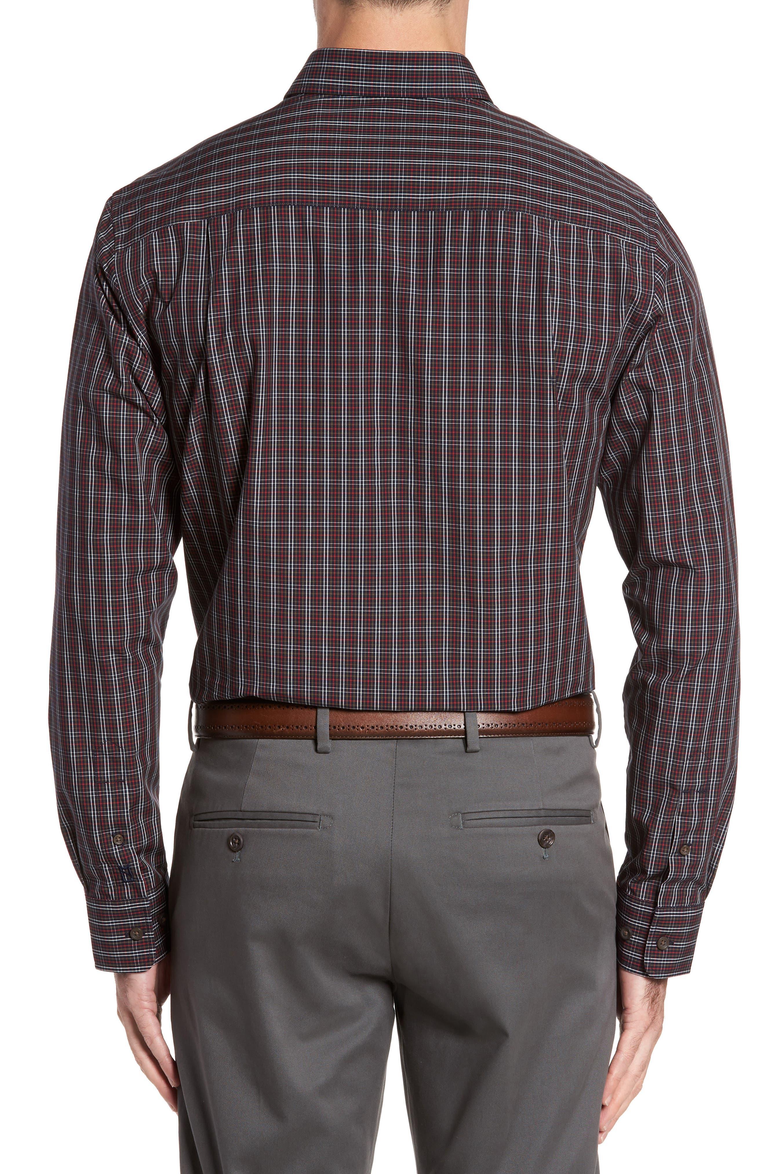Cavanah Non-Iron Plaid Sport Shirt,                             Alternate thumbnail 2, color,                             493