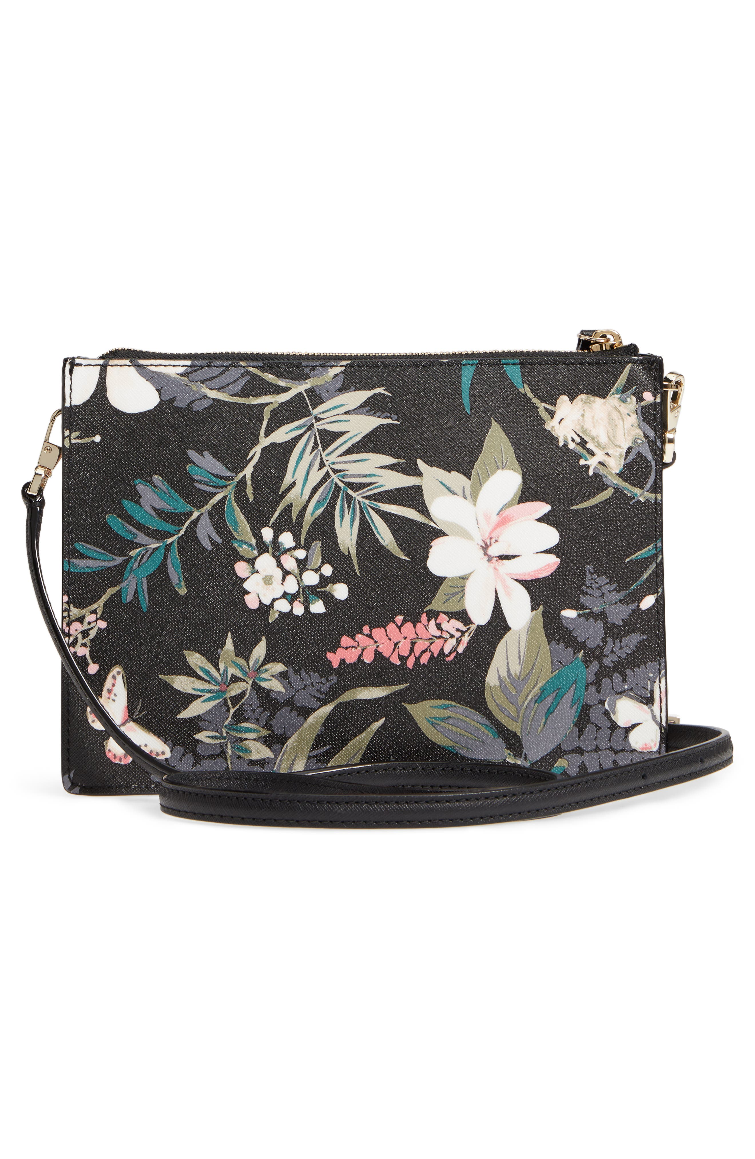 cameron street botanical - clarise faux leather crossbody bag,                             Alternate thumbnail 3, color,                             001