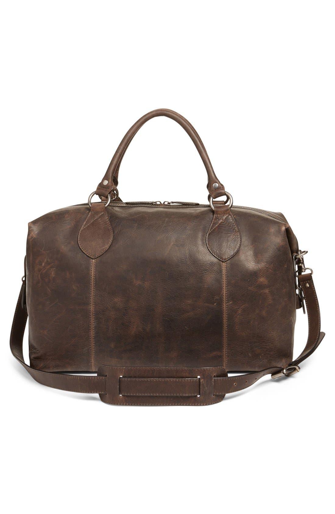 'Logan' Leather Overnight Bag,                             Alternate thumbnail 14, color,