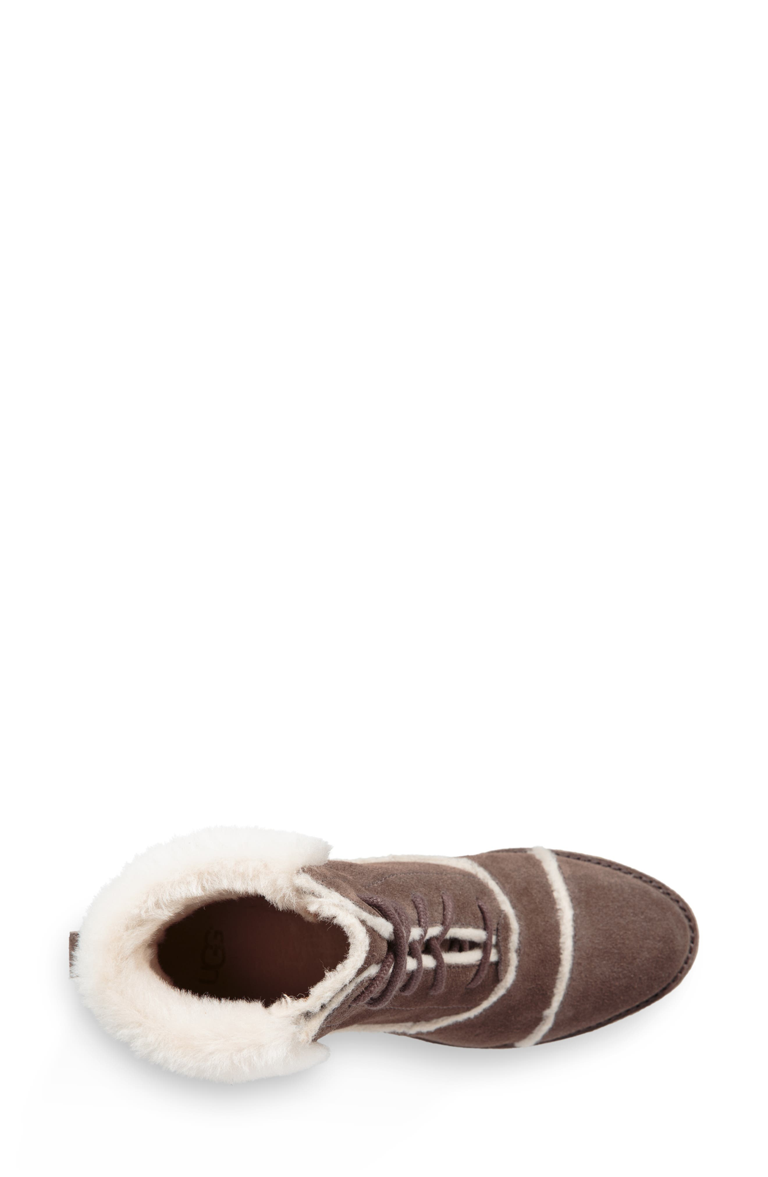 Esterly Genuine Shearling Boot,                             Alternate thumbnail 4, color,                             MYSTERIOUS