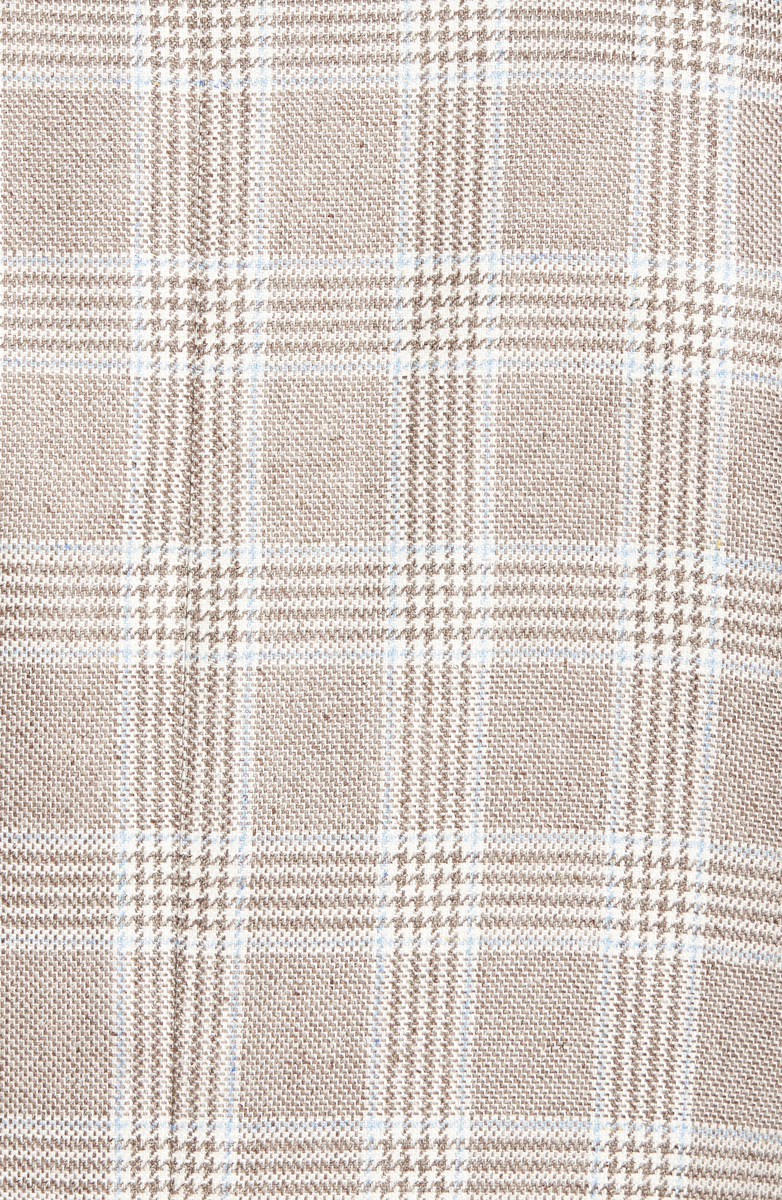Trim Fit Plaid Silk & Wool Sport Coat,                             Alternate thumbnail 6, color,                             235