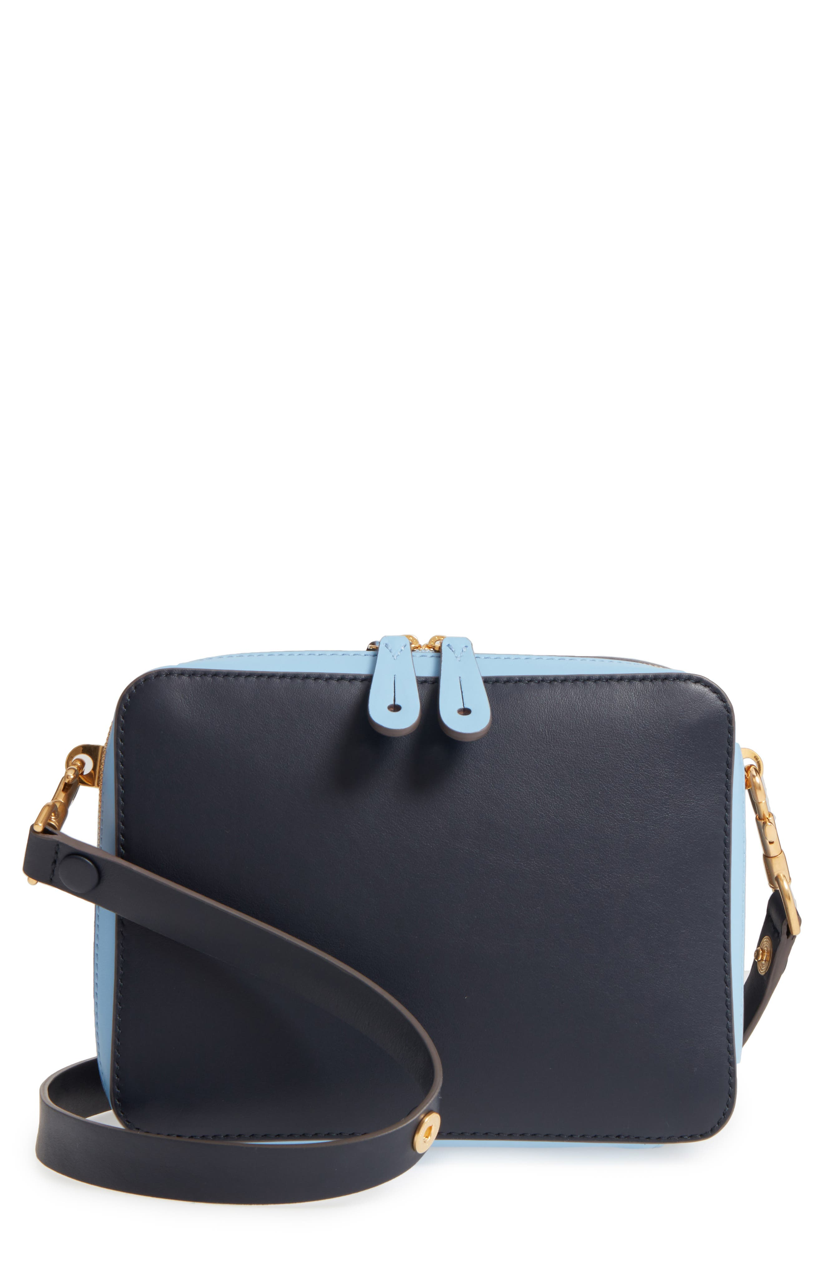 The Stack Leather Crossbody Bag,                             Main thumbnail 1, color,
