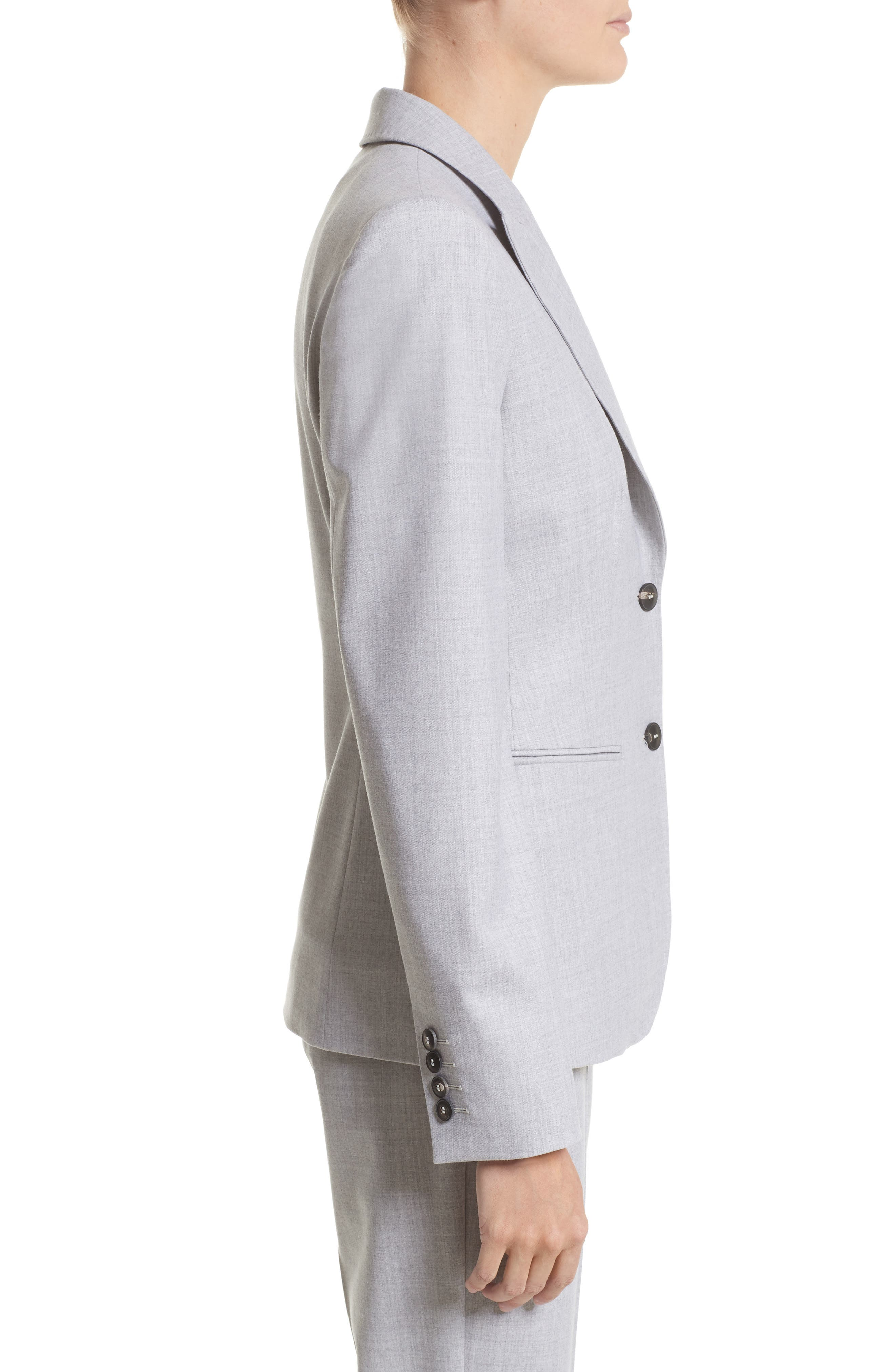 Stretch Wool Jacket,                             Alternate thumbnail 3, color,                             054