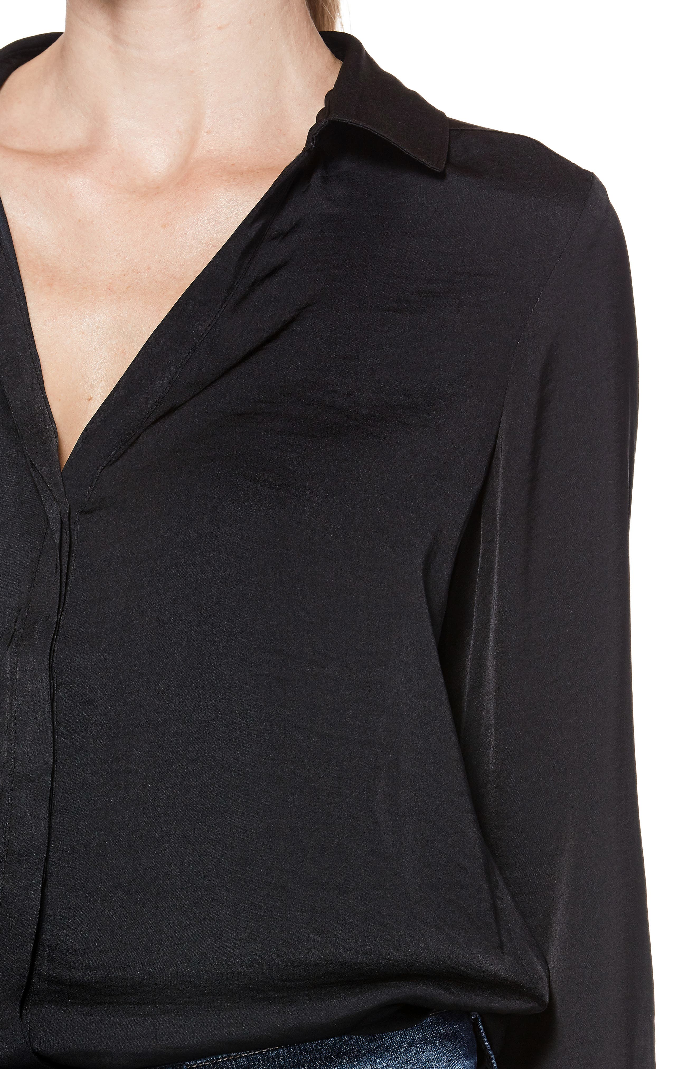Abriana Shirt,                             Alternate thumbnail 2, color,                             BLACK