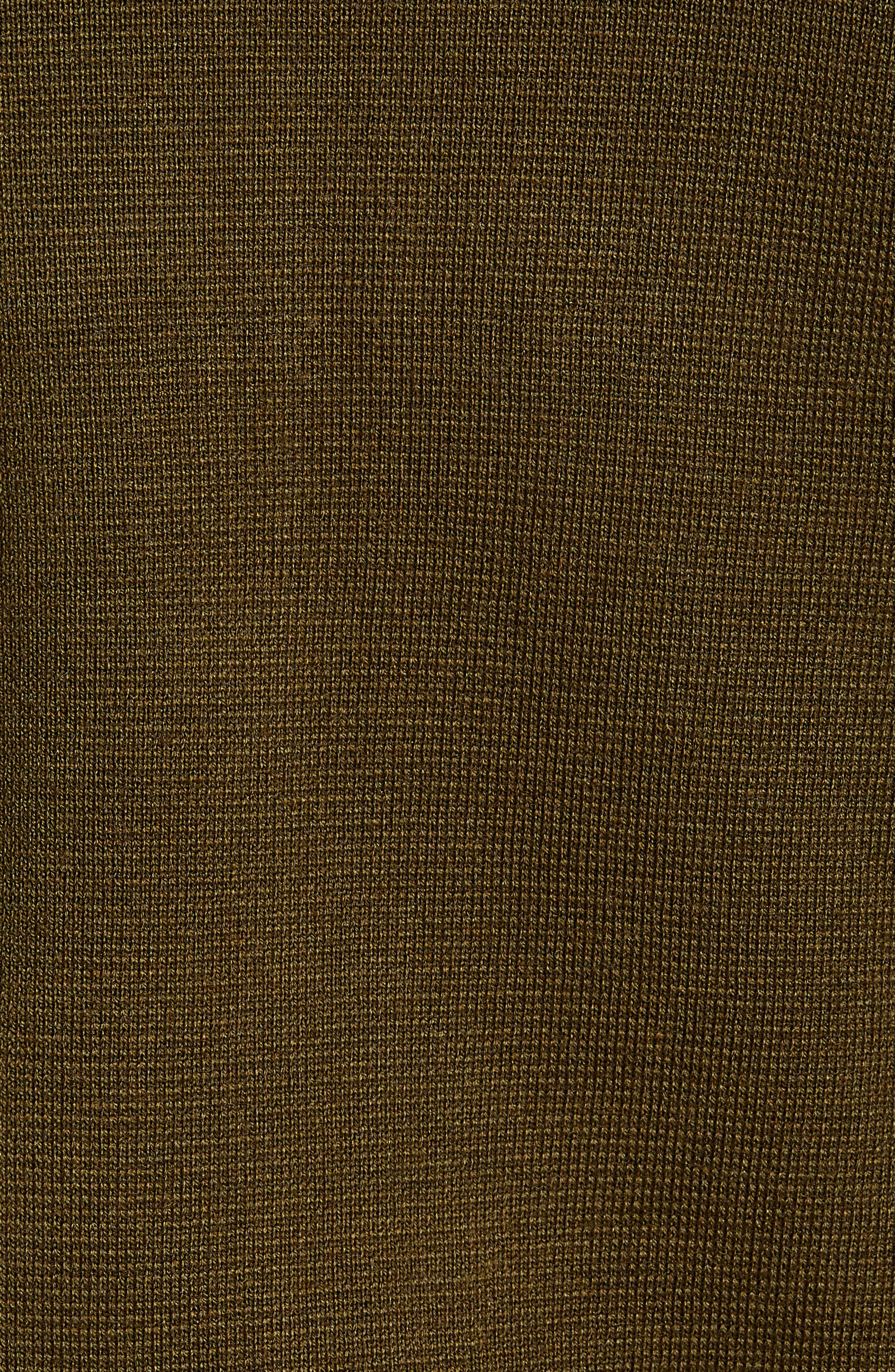 Akwa Slim Fit Zip Wool Blend Sweater,                             Alternate thumbnail 5, color,                             KHAKI