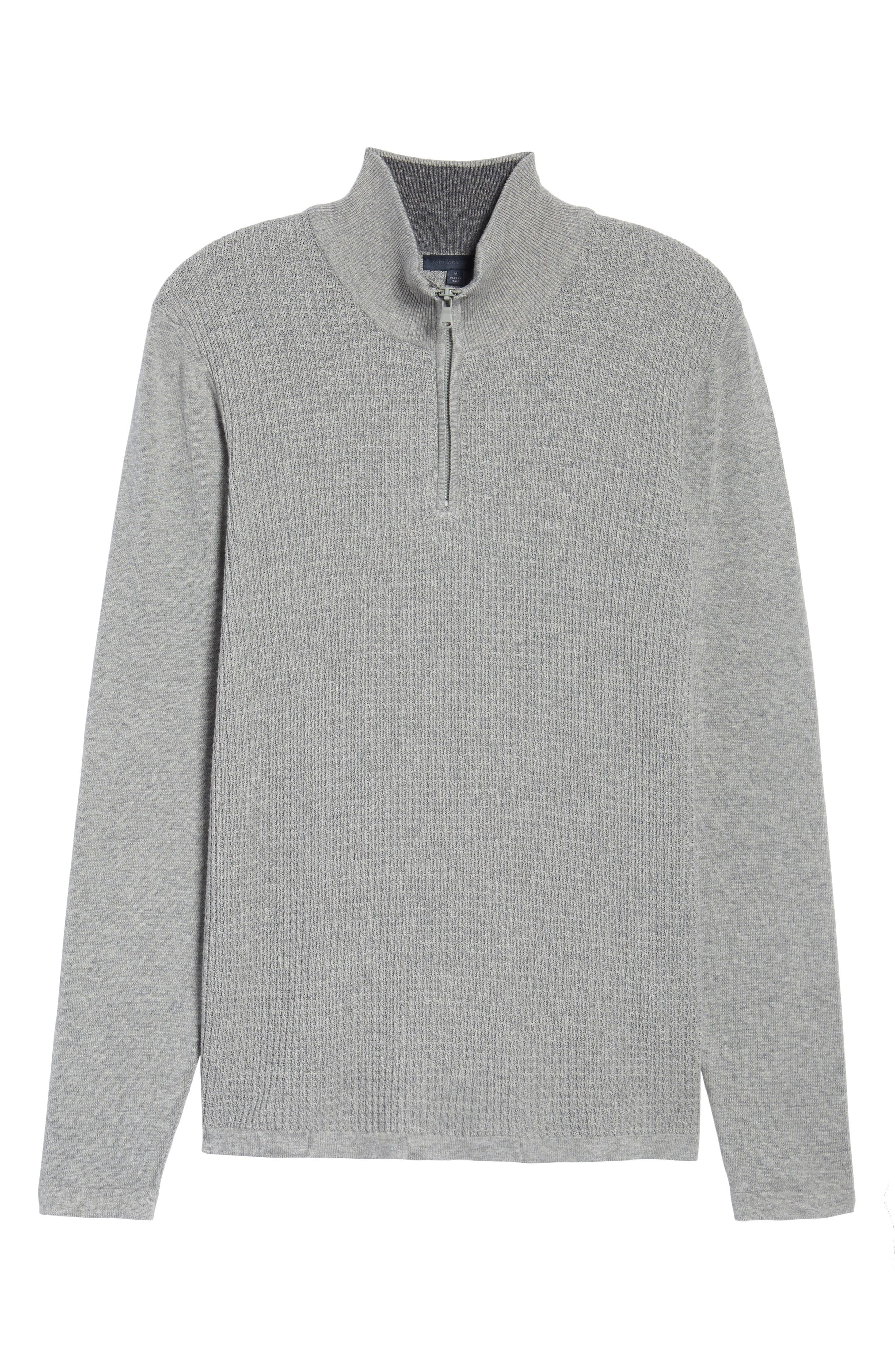 Higgins Quarter Zip Sweater,                             Alternate thumbnail 6, color,                             050