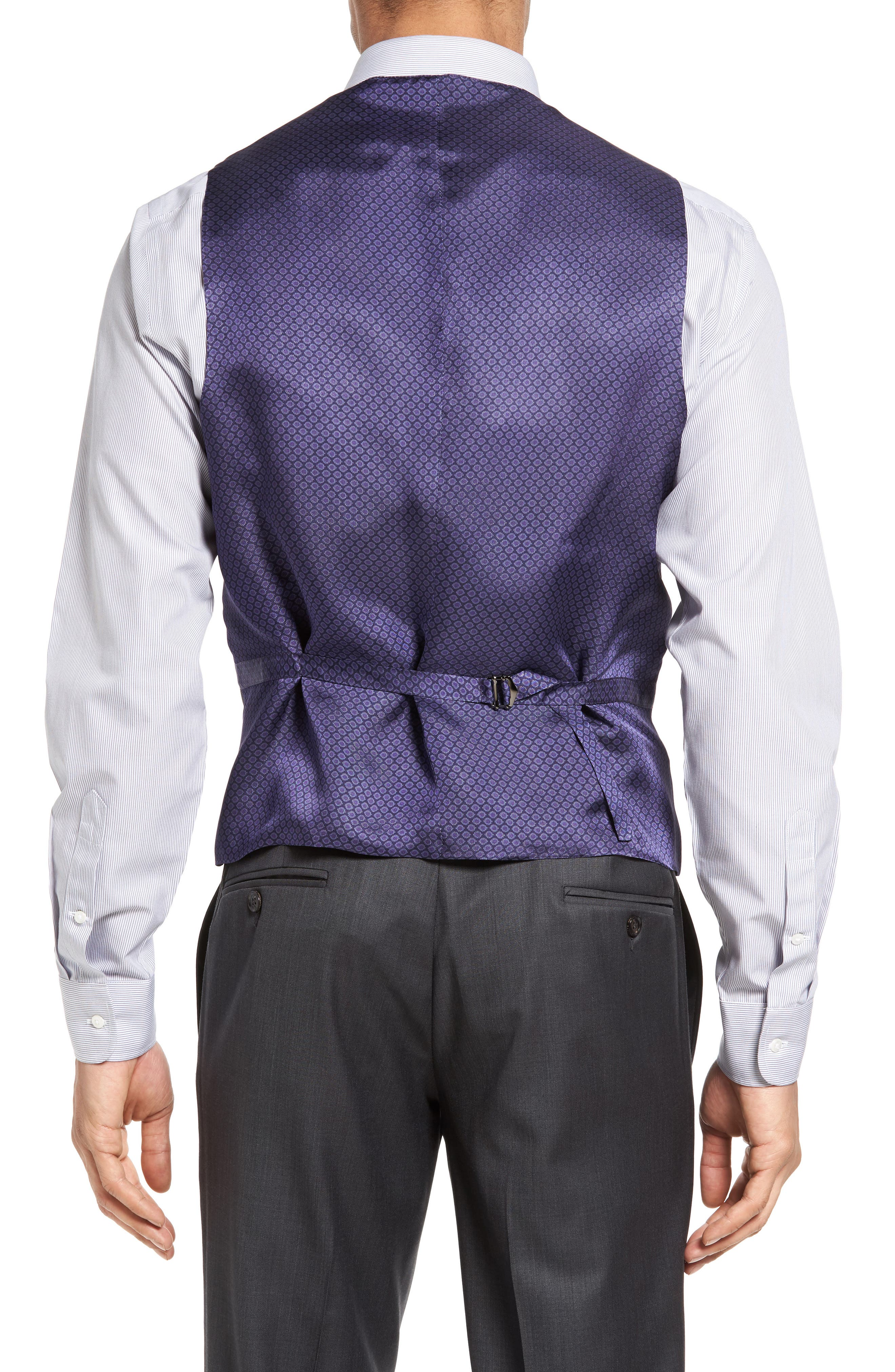 Jones Trim Fit Wool Vest,                             Alternate thumbnail 7, color,