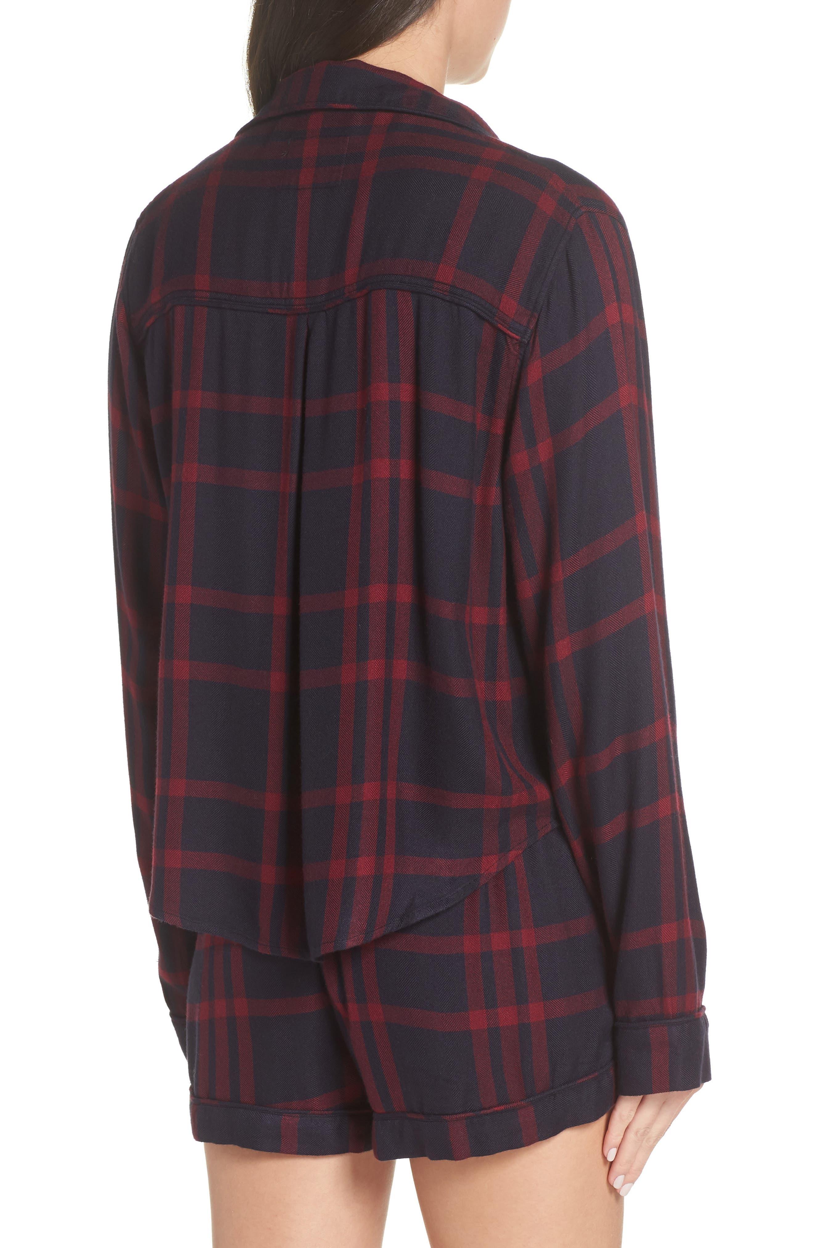 Short Pajamas,                             Alternate thumbnail 2, color,                             BLACK CHERRY