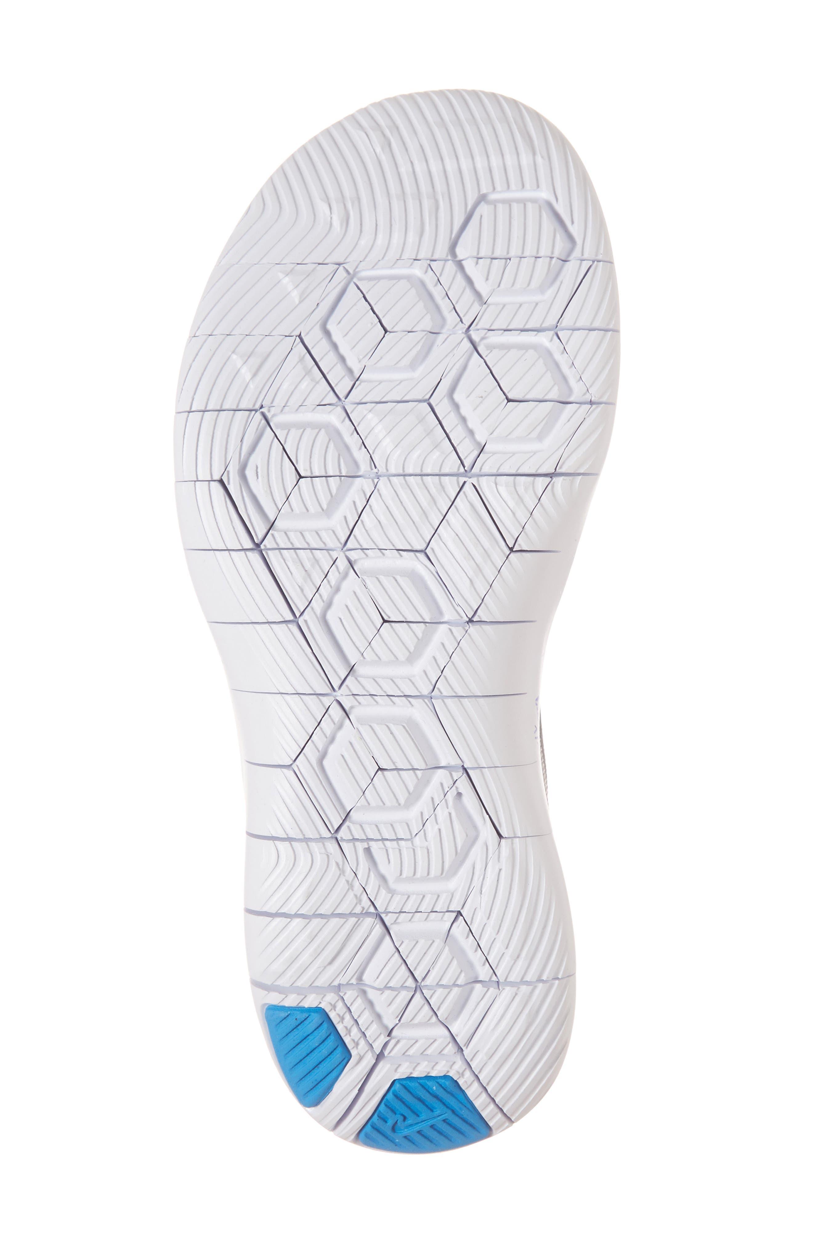 Flex Contact Running Shoe,                             Alternate thumbnail 6, color,                             ATMOSPHERE GREY/ LASER ORANGE