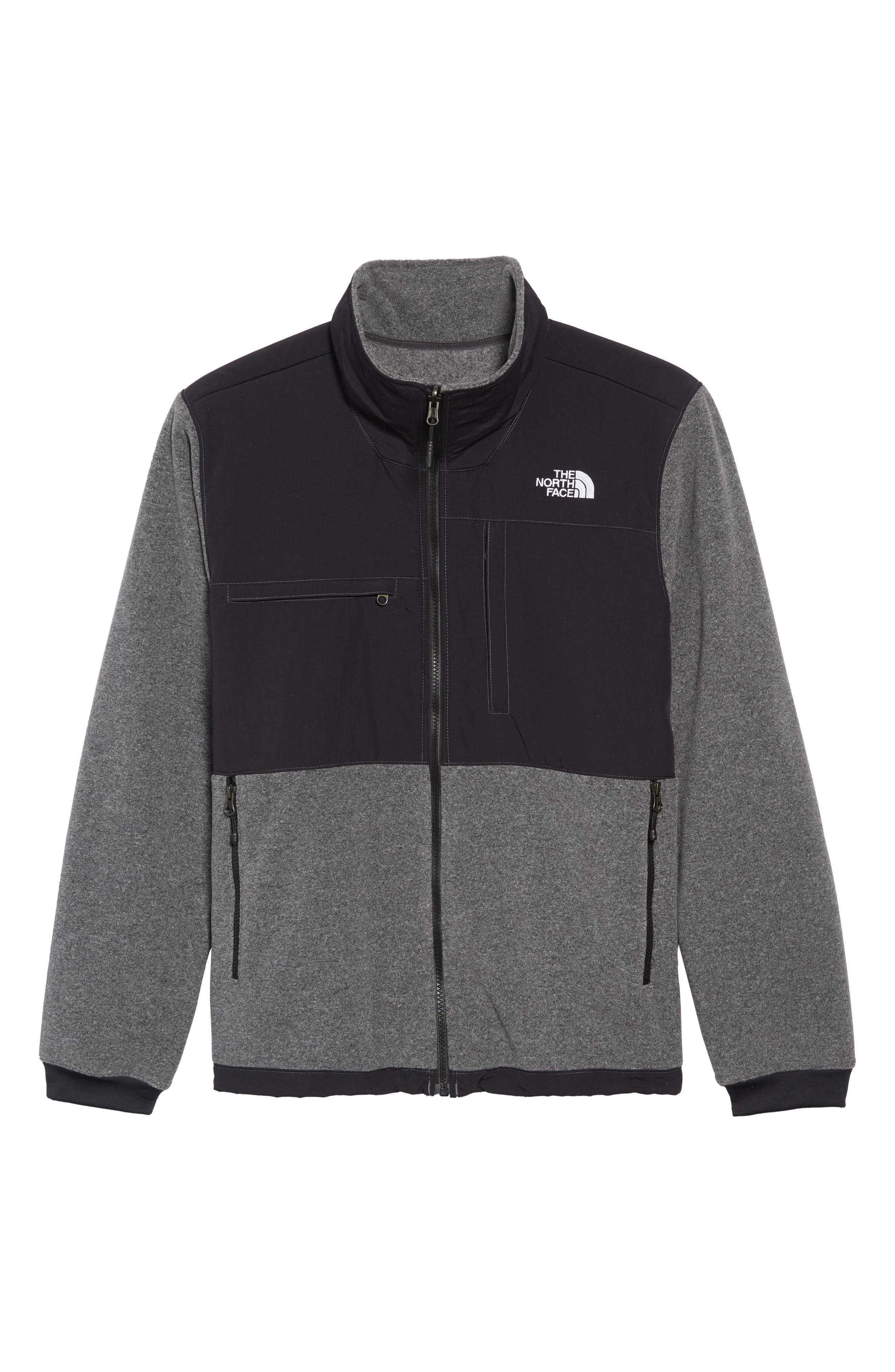 THE NORTH FACE,                             Denali 2 Jacket,                             Alternate thumbnail 7, color,                             RECYCLED CHARCOAL GREY HEATHER