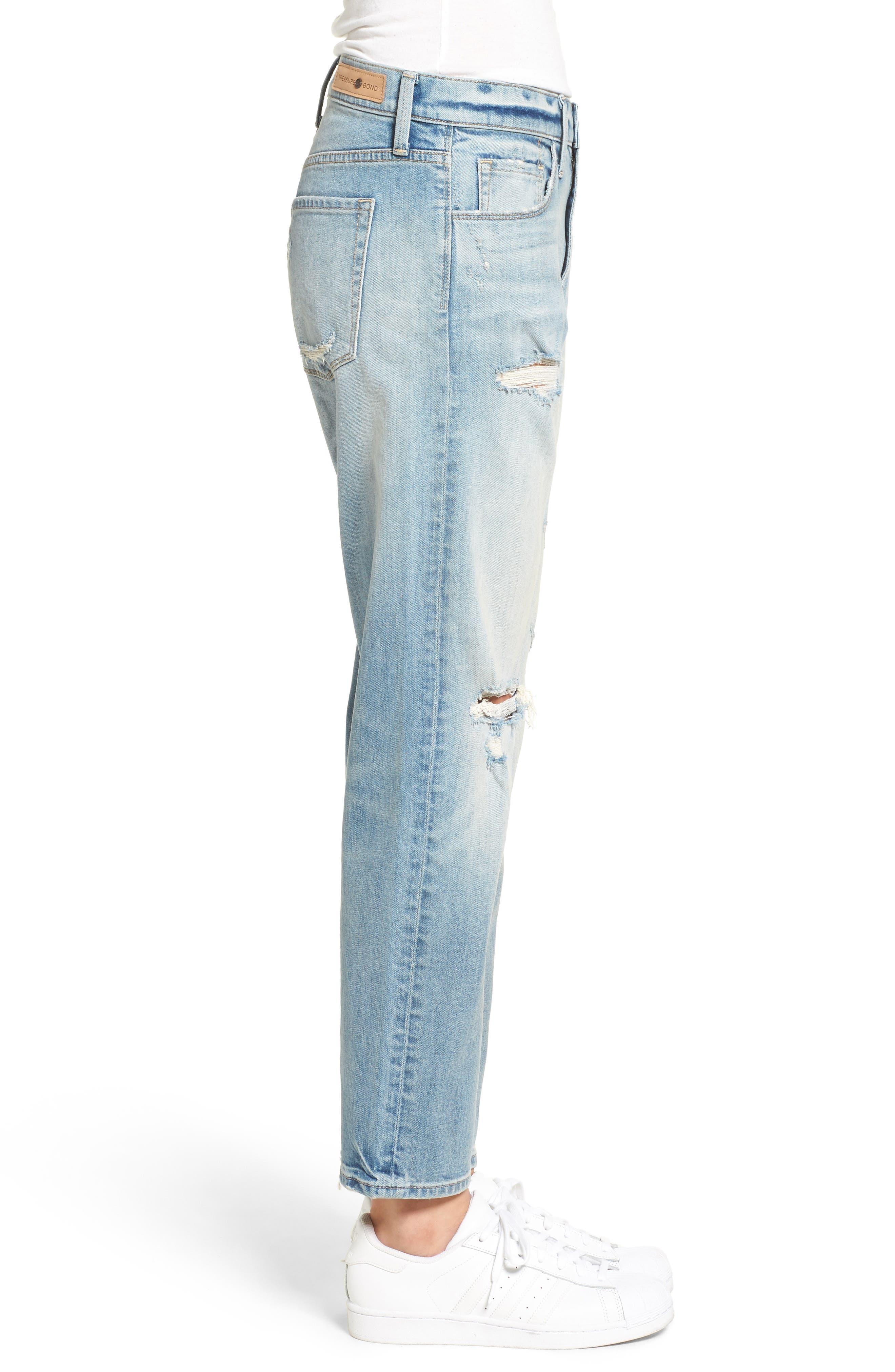 TREASURE & BOND,                             Boyfriend Jeans,                             Alternate thumbnail 3, color,                             400