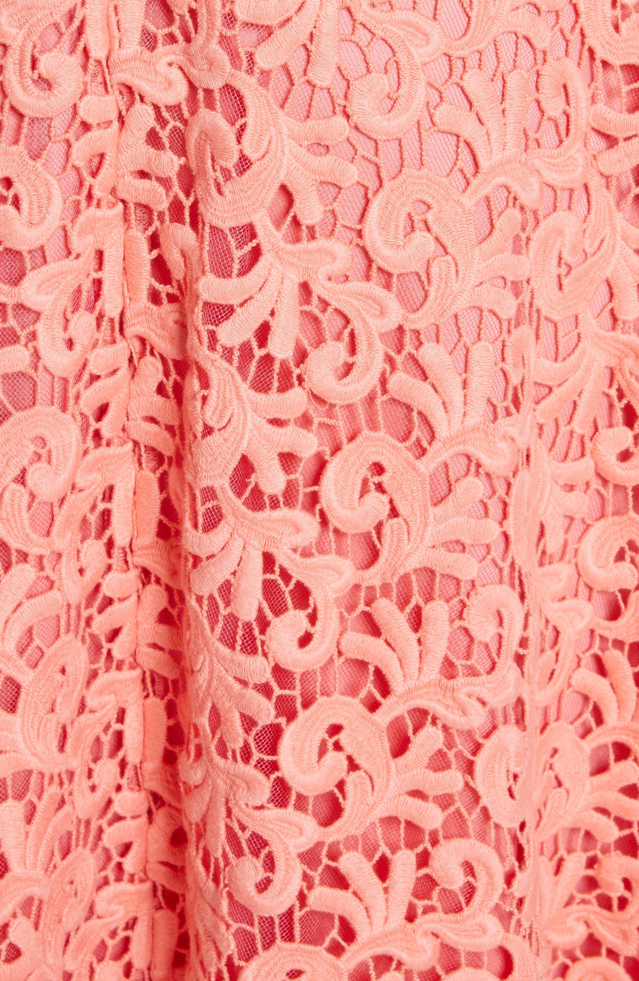 Paisley Guipure Lace Dress,                             Alternate thumbnail 5, color,                             950