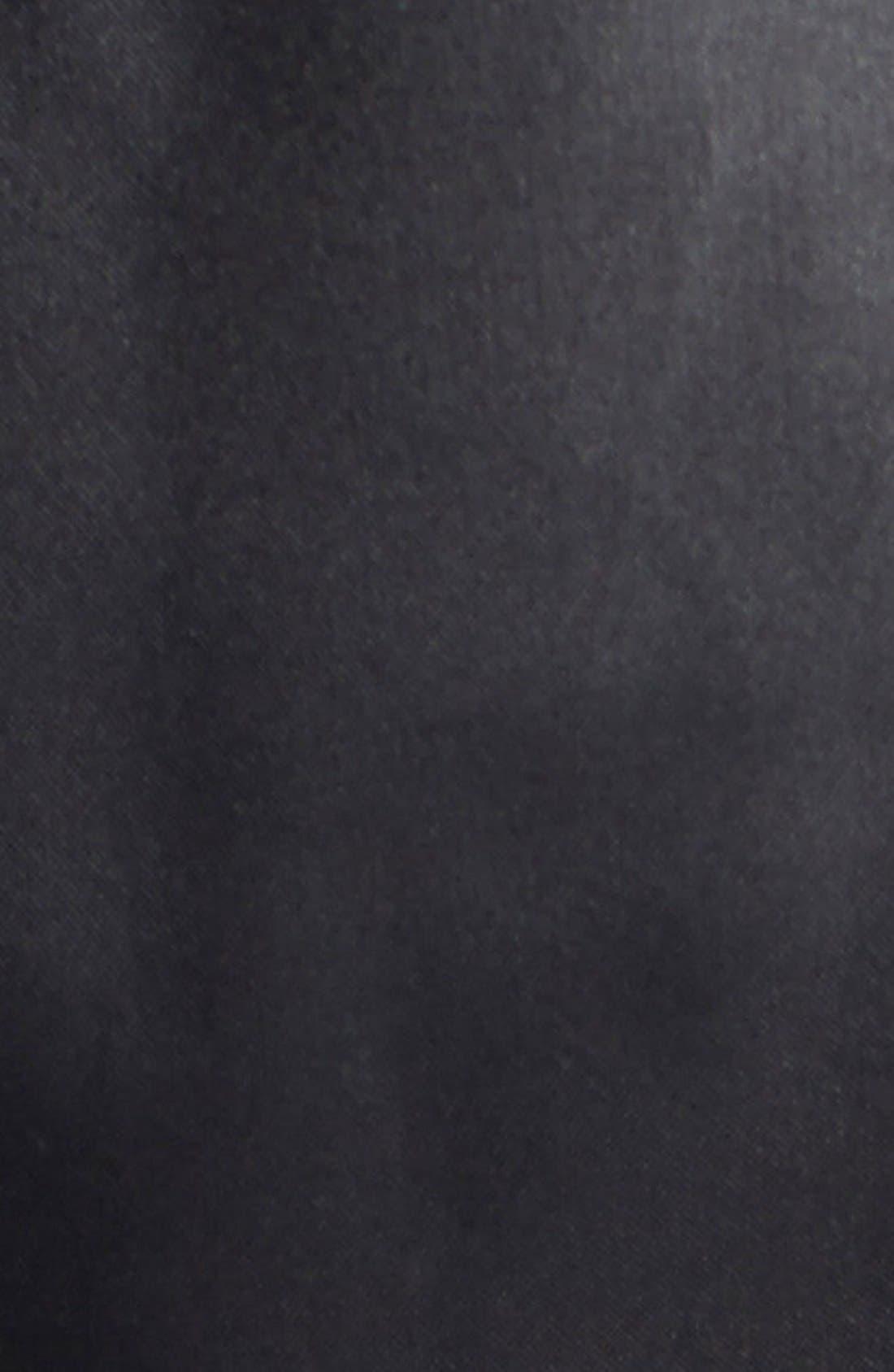 Faux Fur Trim Diamond Quilted Coat,                             Alternate thumbnail 3, color,                             001