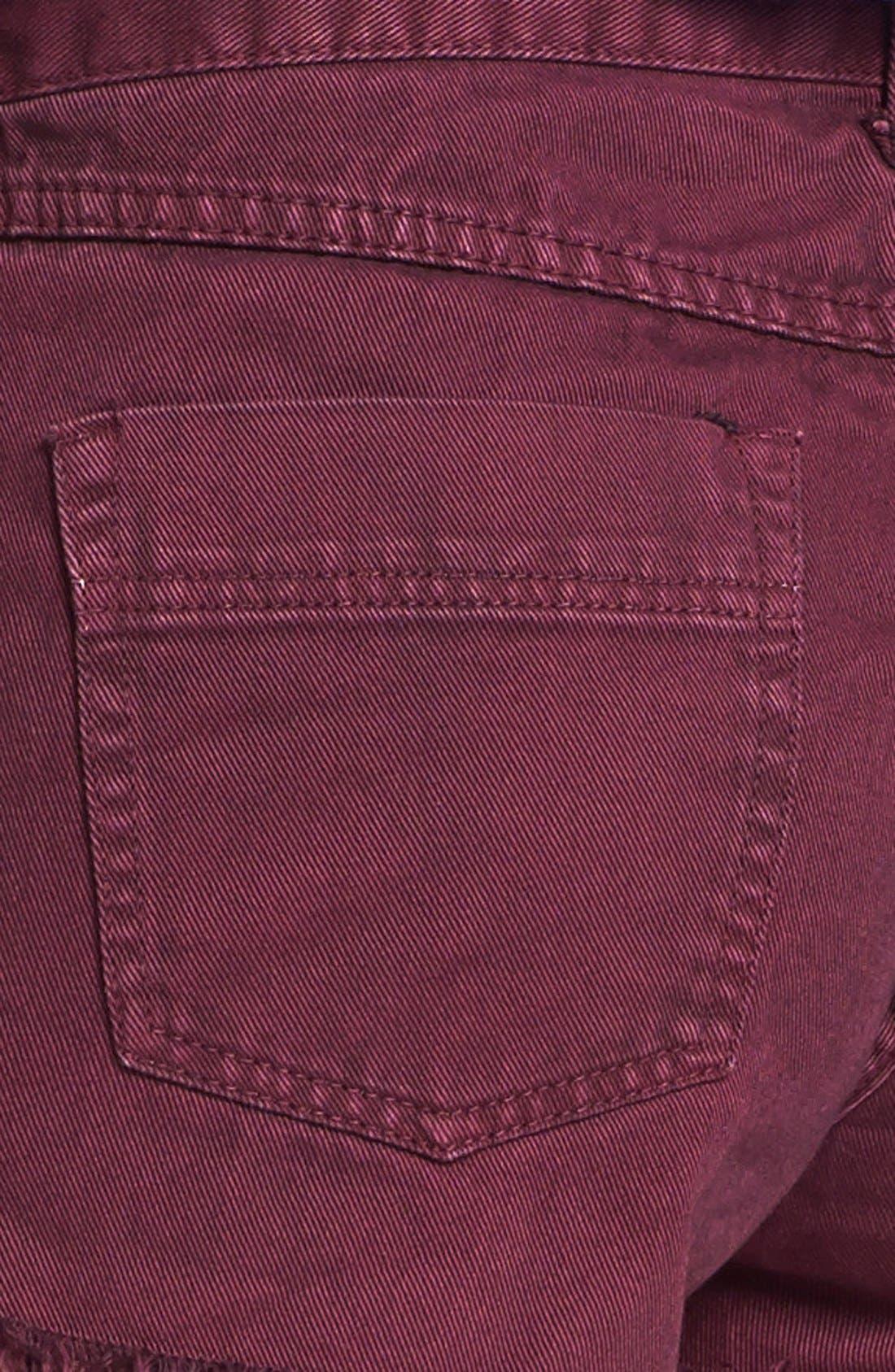 'Dolphin' Cutoff Denim Shorts,                             Alternate thumbnail 21, color,