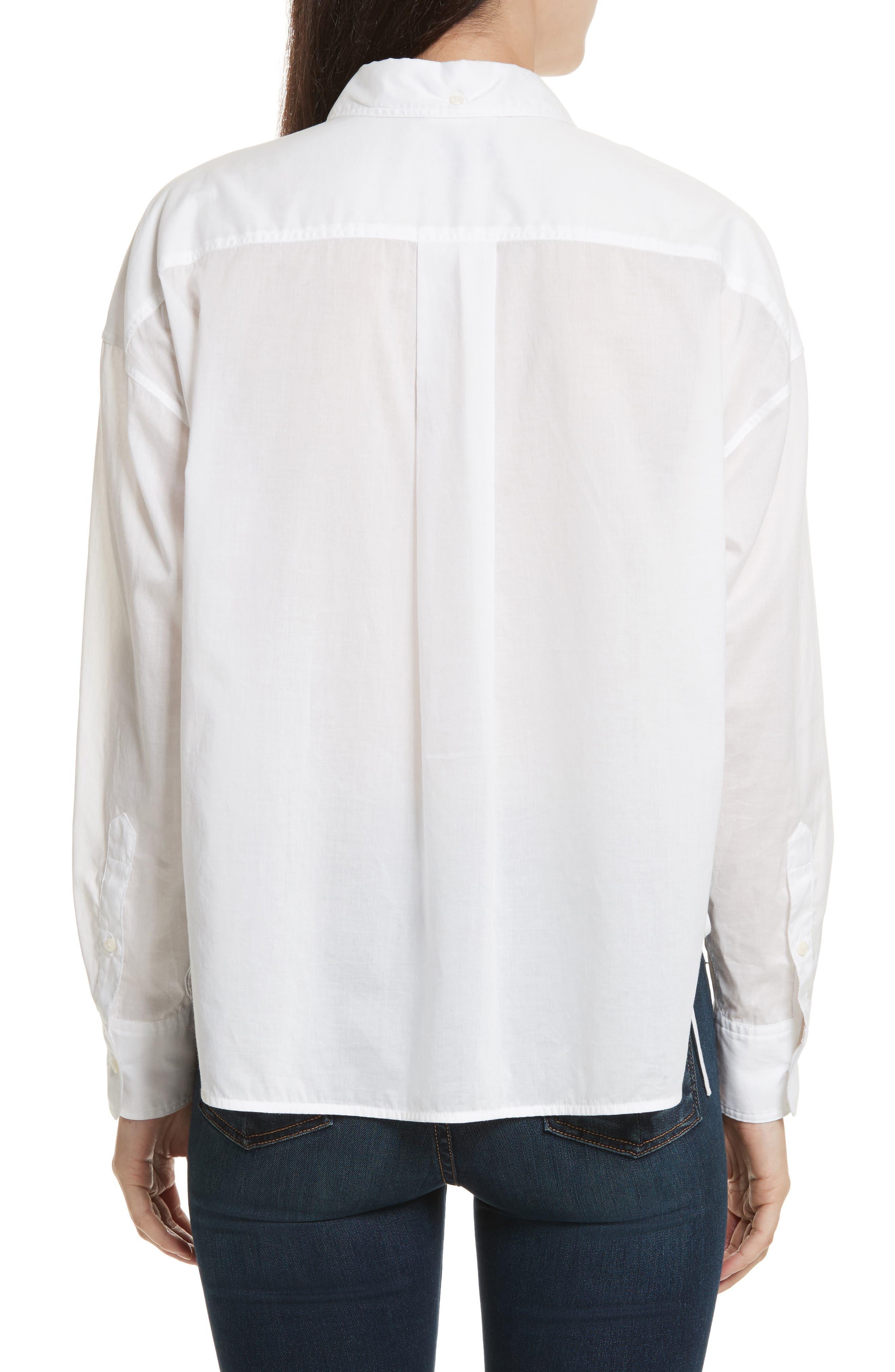 Mason Crop Shirt,                             Alternate thumbnail 2, color,                             100