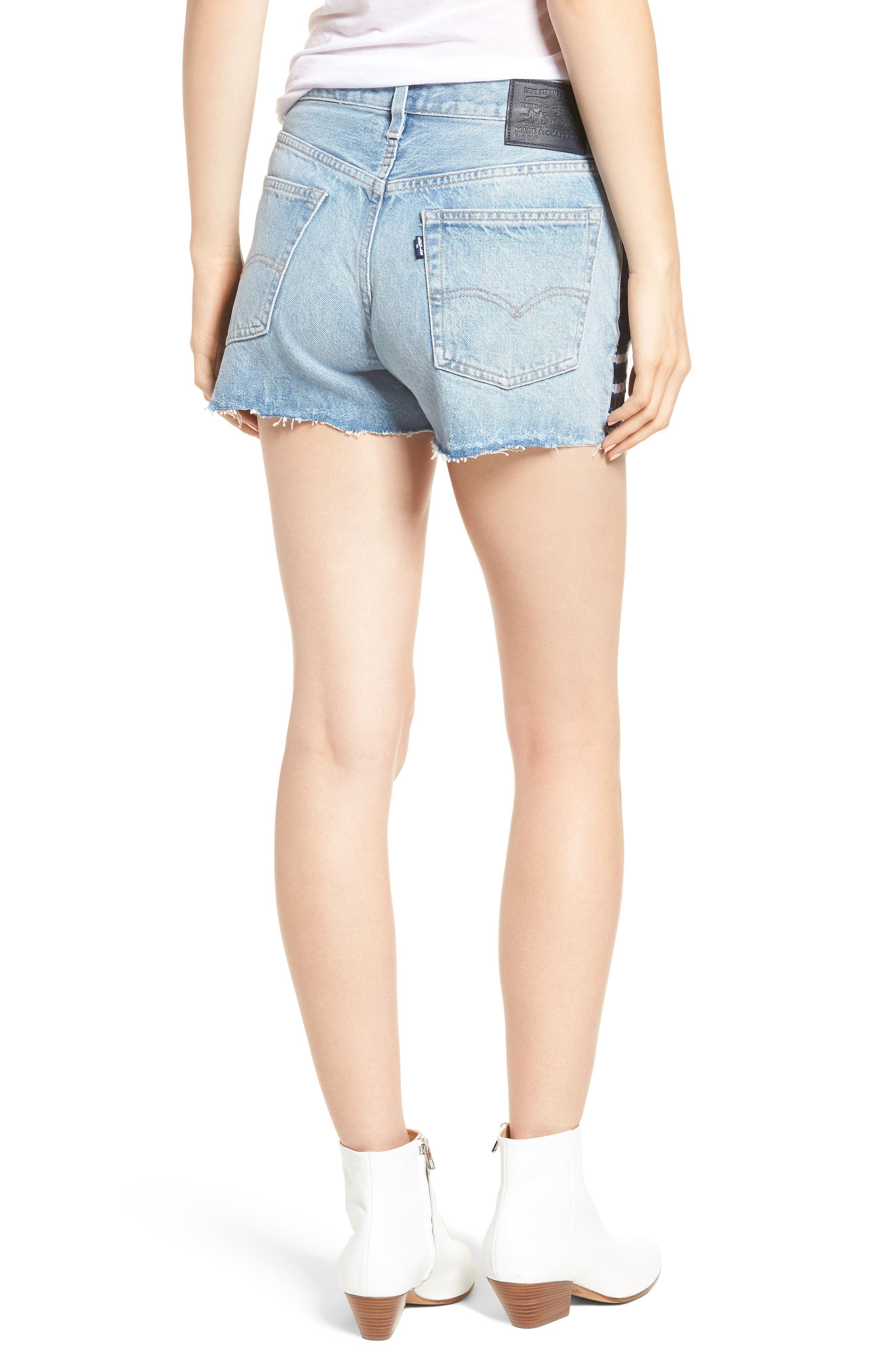 Made & Crafted<sup>™</sup> 501<sup>®</sup> Embroidered Cutoff Denim Shorts,                             Alternate thumbnail 2, color,                             LMC SKIPPER