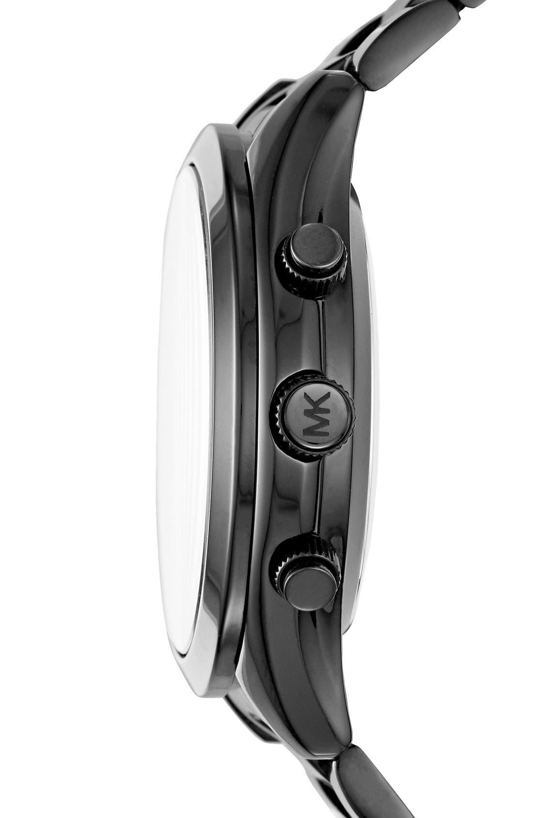MICHAEL Michael Kors Slim Runway Smart Watch, 42mm,                             Alternate thumbnail 3, color,                             BLACK